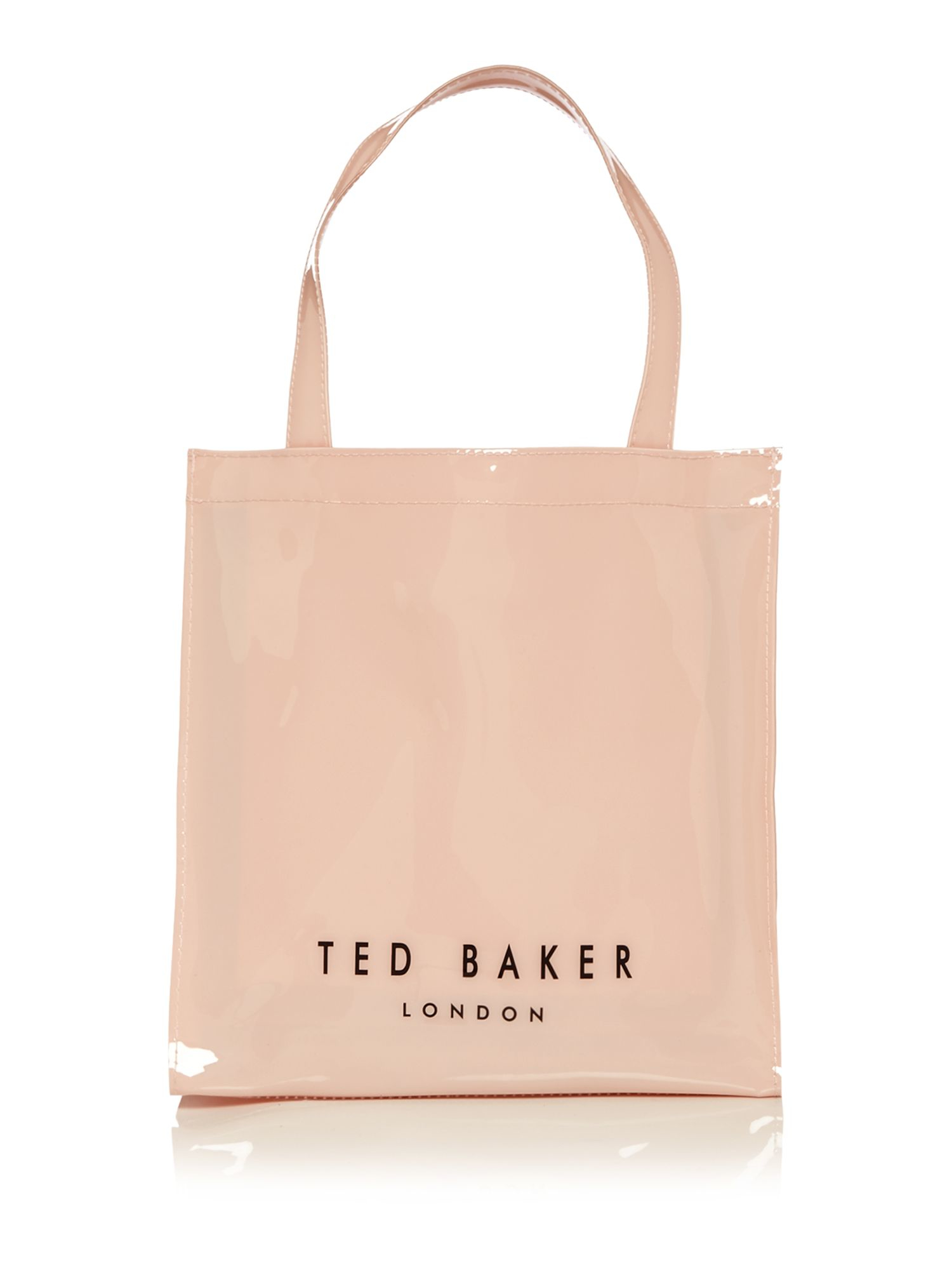 ted baker bowcon light pink small print tote bag in pink lyst. Black Bedroom Furniture Sets. Home Design Ideas