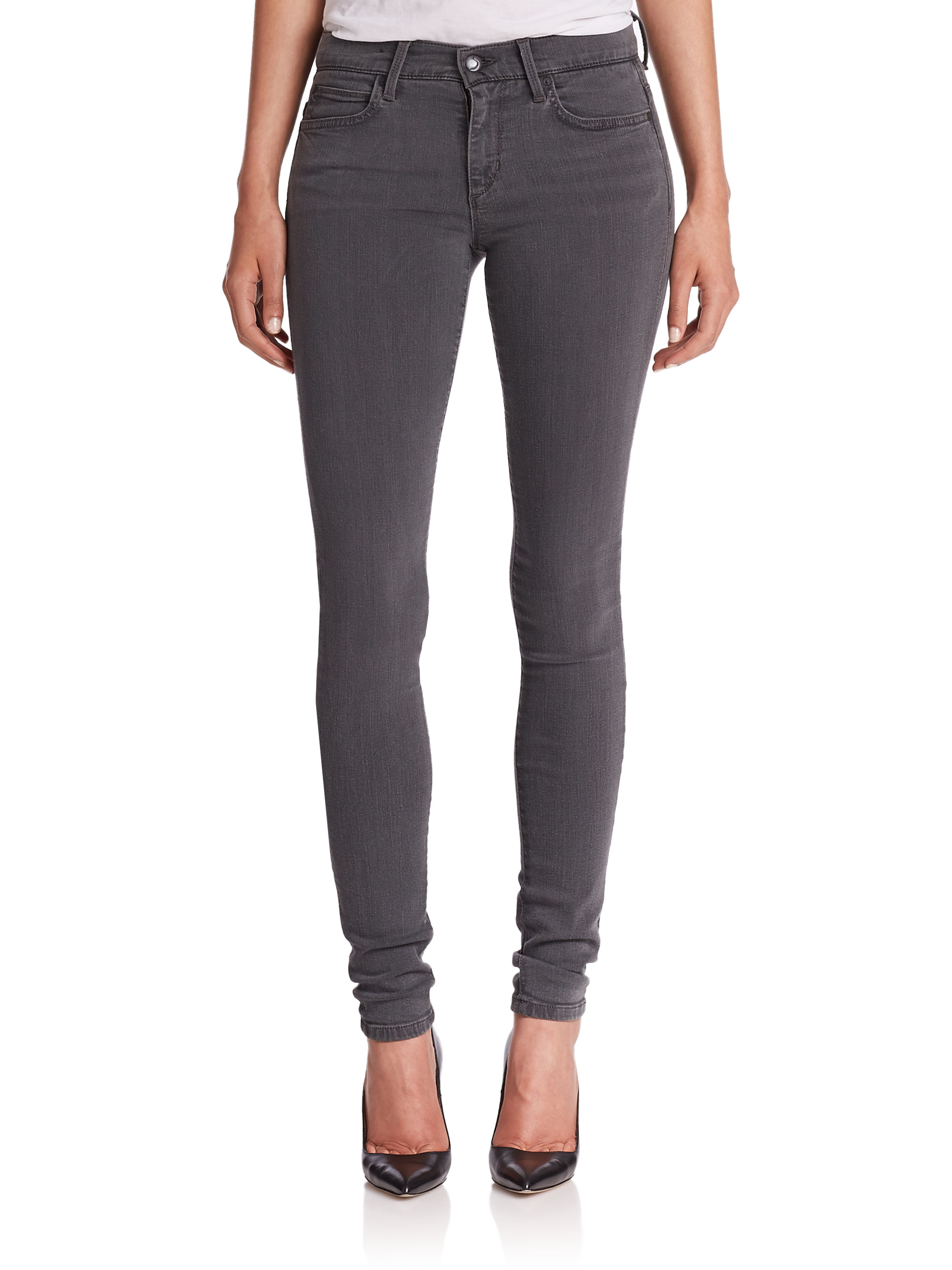 Joe&39s jeans Hello Skinny Jeans in Gray | Lyst