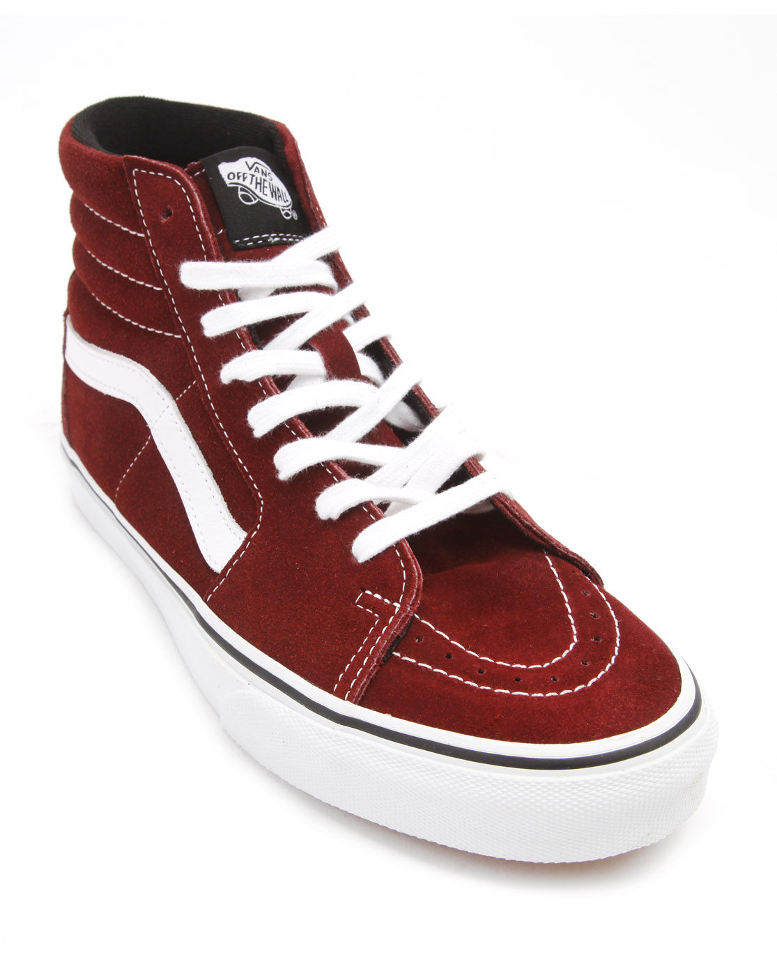 Vans Sk8 Hi Burgundy Suede Sneakers in Red for Men (burgundy) | Lyst