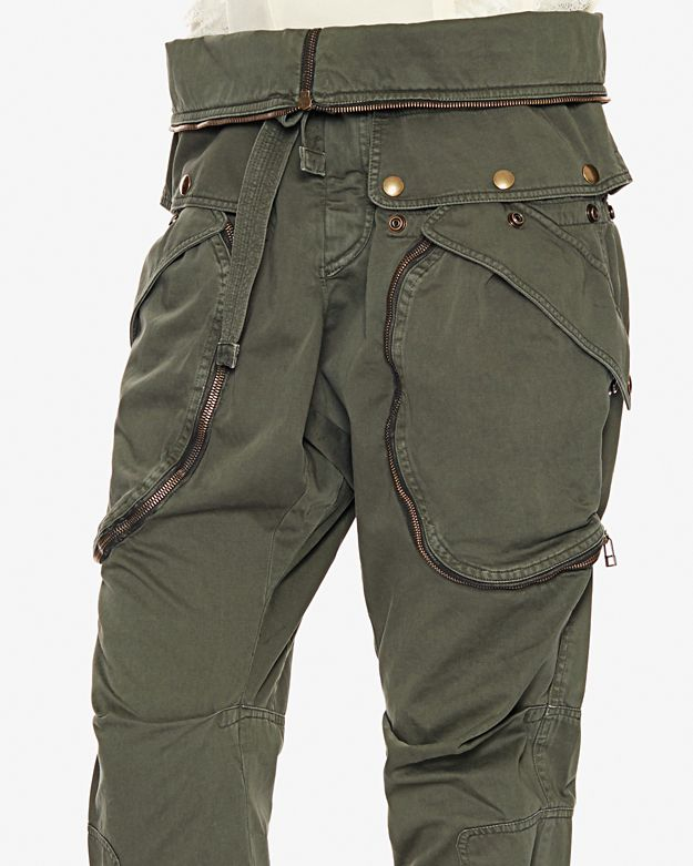 Faith connexion Zipper Detail Cargo Pants in Green | Lyst
