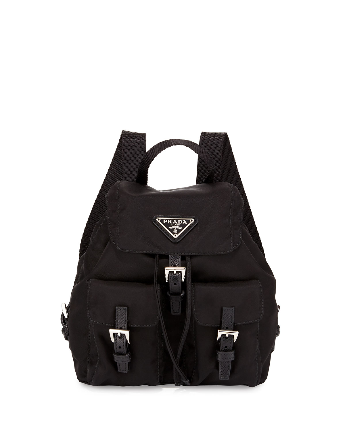 ac4b459925f6b5 Prada Vela Nylon Crossbody Backpack in Black - Lyst