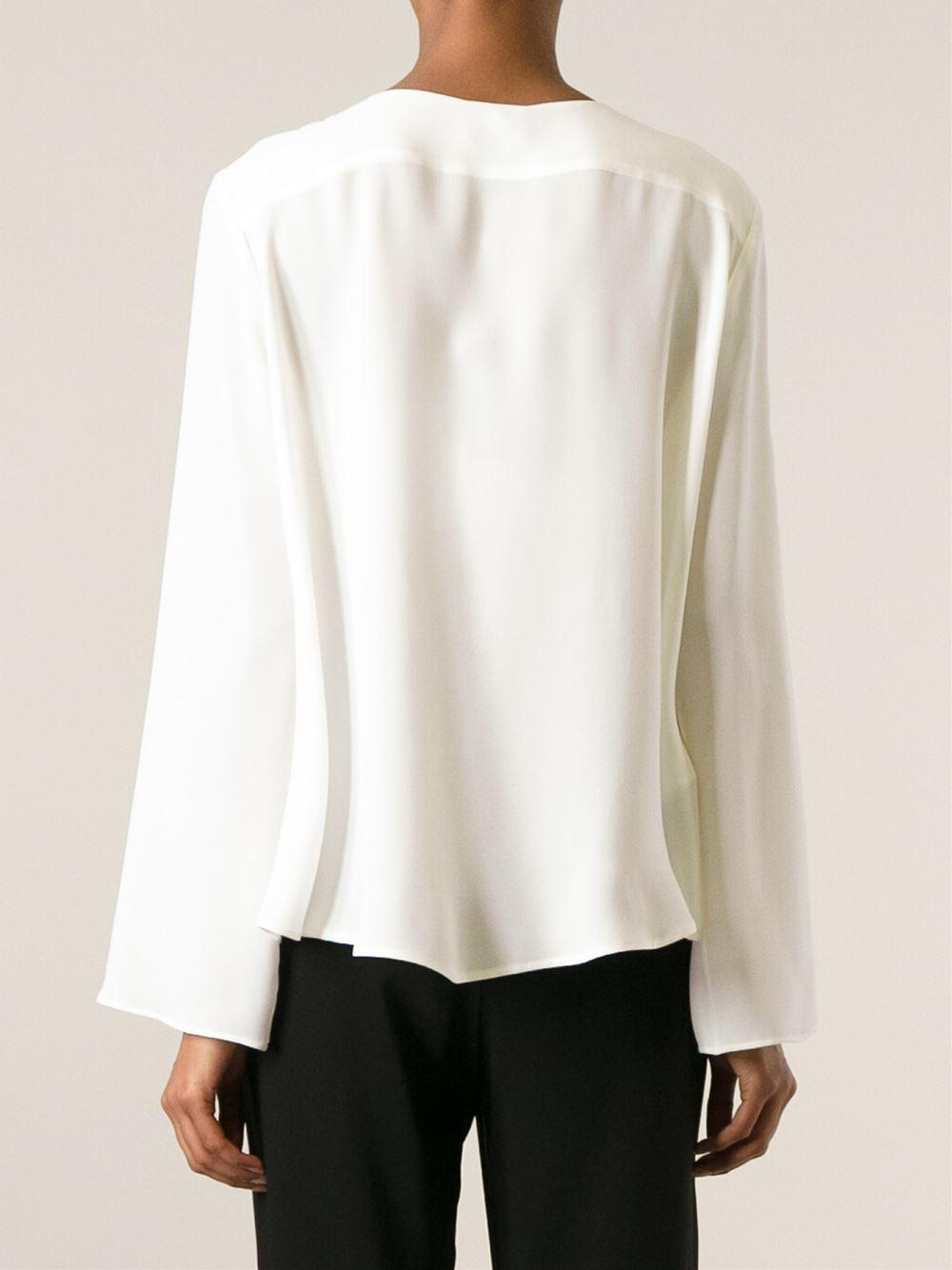 Lyst Giorgio Armani Loose Fit Blouse In White