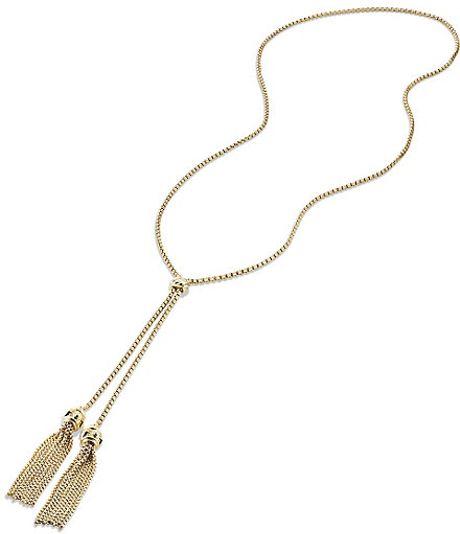 david yurman renaissance tassel necklace with 18k gold in gold