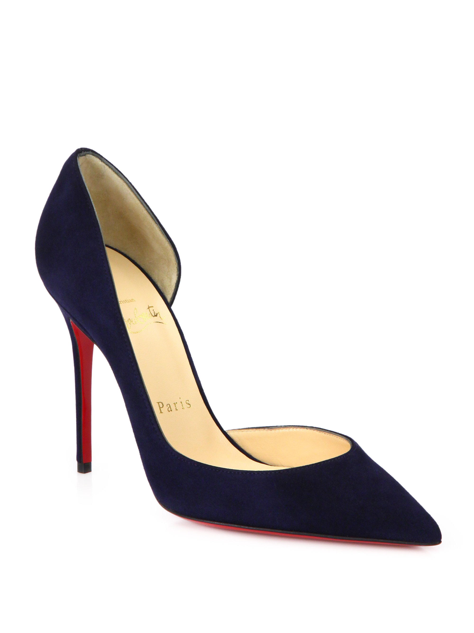 christian louboutin men online store - Artesur ? christian louboutin pointed-toe pumps Navy blue suede