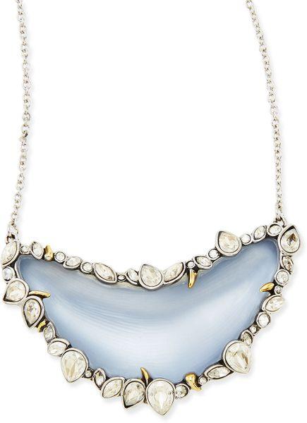 Alexis bittar jardin de mystere crystalframed lucite for Jardin necklace