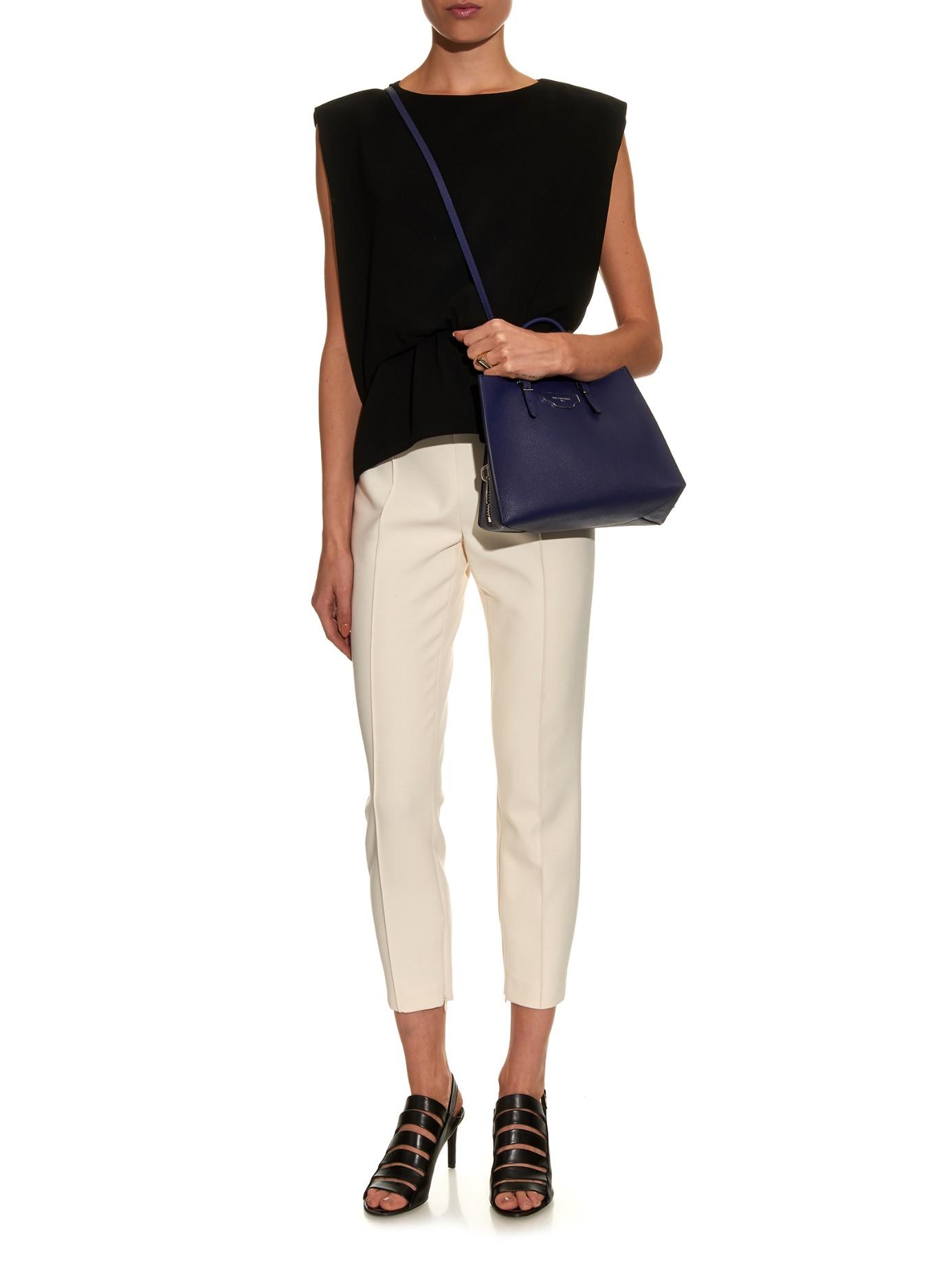 Lyst - Balenciaga Papier A6 Leather Cross-Body Bag in Blue 6216555615060