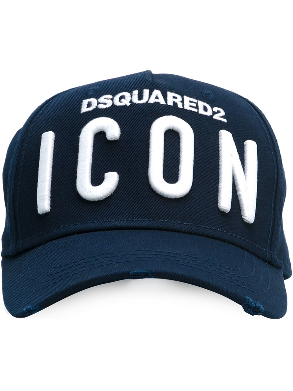 Lyst - DSquared² Logo Icon Patch Cap in Blue for Men 1f15350dc4c