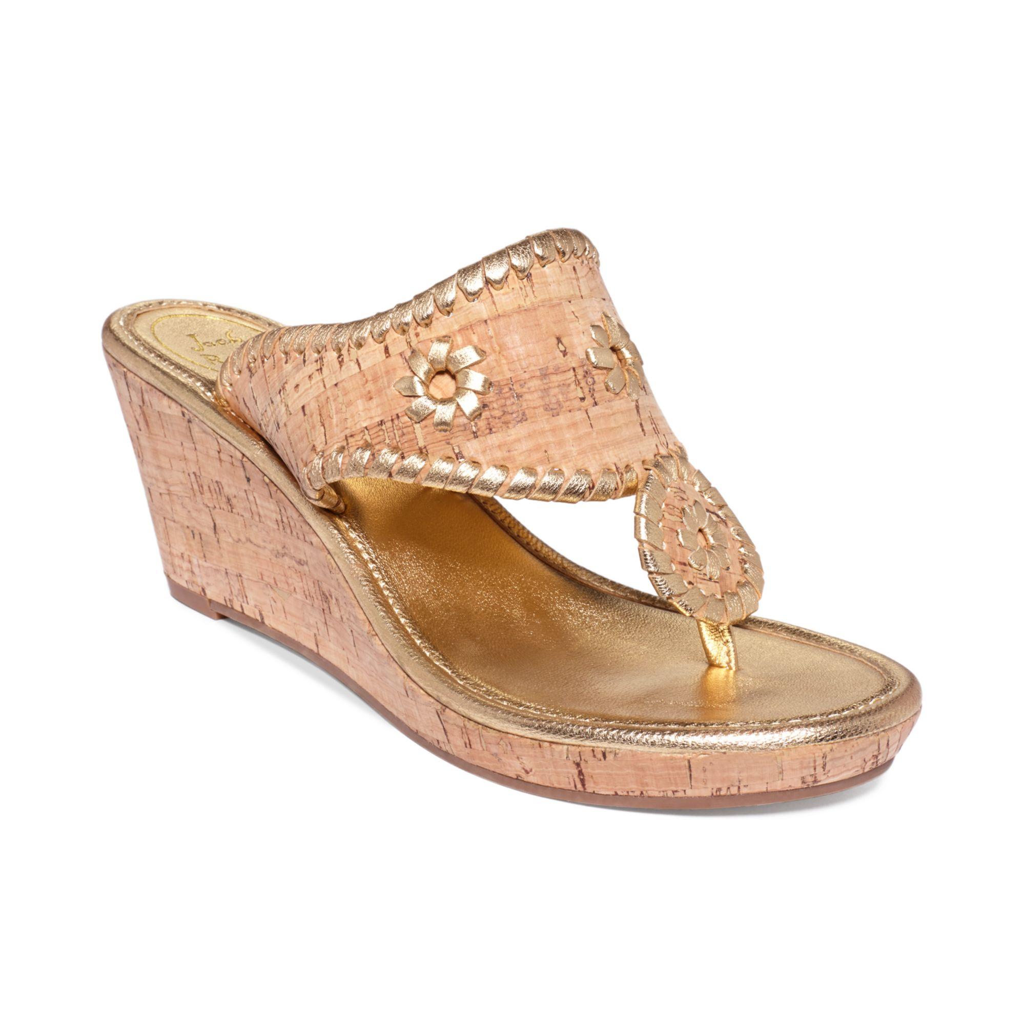 e13082ae2bd Lyst - Jack Rogers Marbella Midwedge Platform Sandals in Metallic