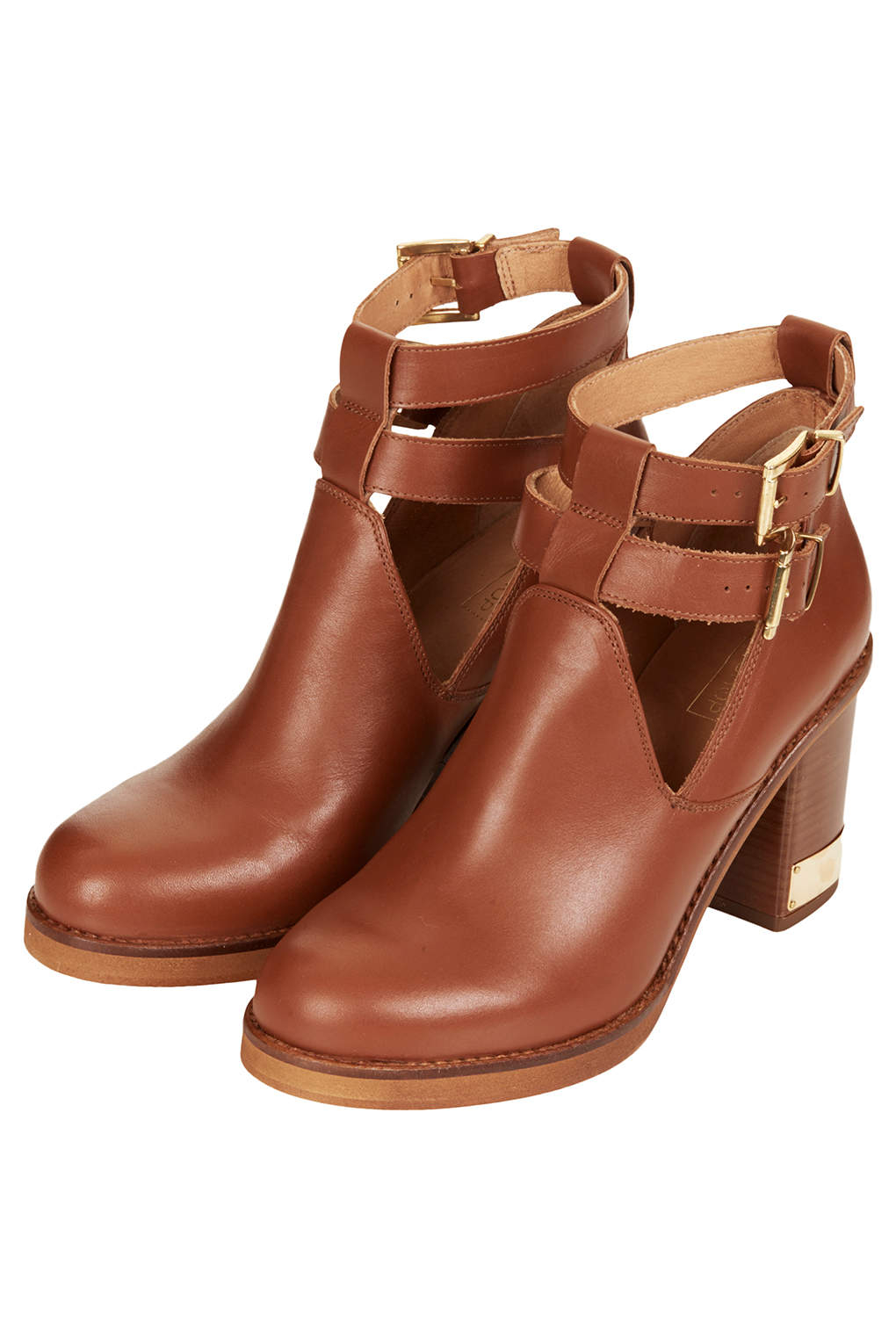 Topshop All Yours Ankle Boots in Brown | Lyst