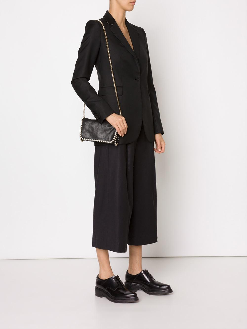 stella mccartney 39 falabella 39 crossbody bag in black lyst. Black Bedroom Furniture Sets. Home Design Ideas