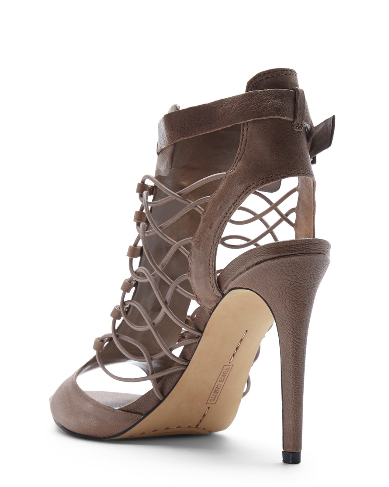 a21065f225c Lyst - Vince Camuto Taupe Fossel Gladiator Sandals in Brown