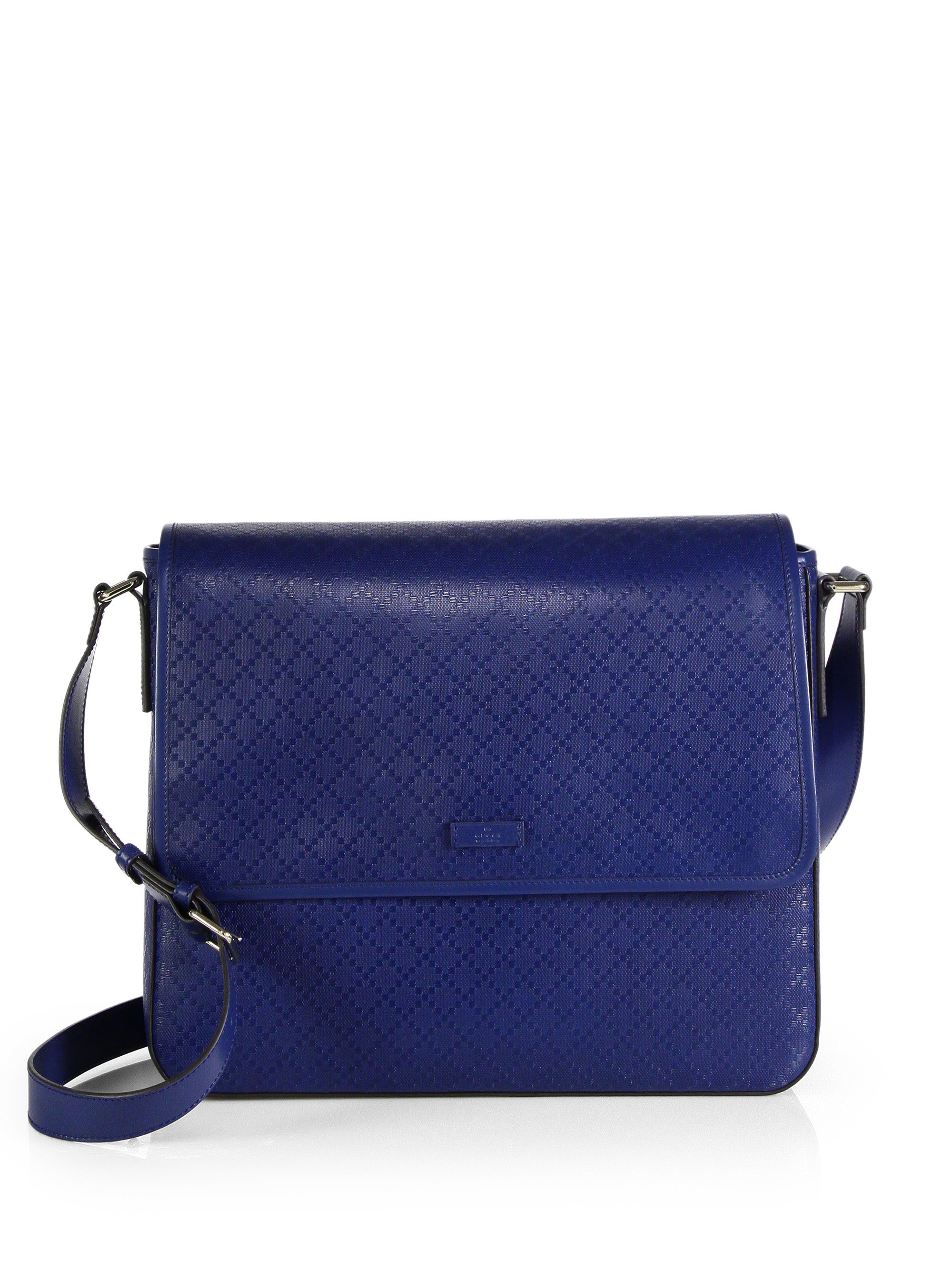 Gucci Diamante Lux Leather Messenger Bag in Blue for Men (ROYAL BLUE)