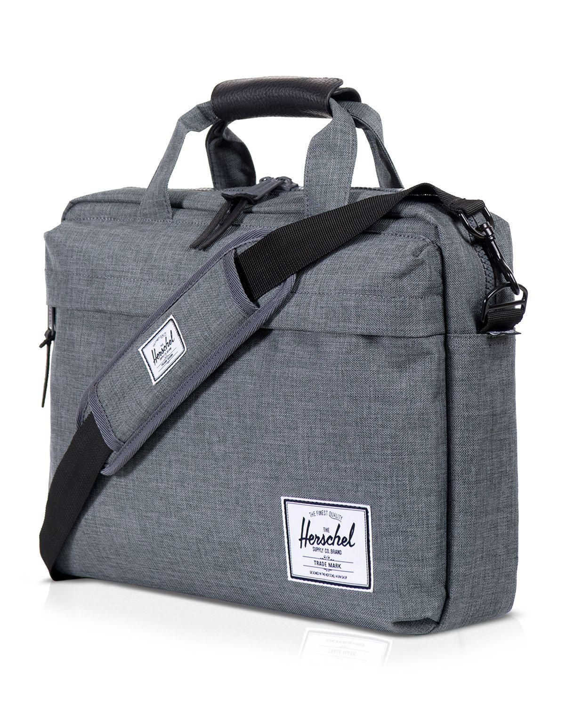 herschel supply co clark messenger bag in gray for lyst