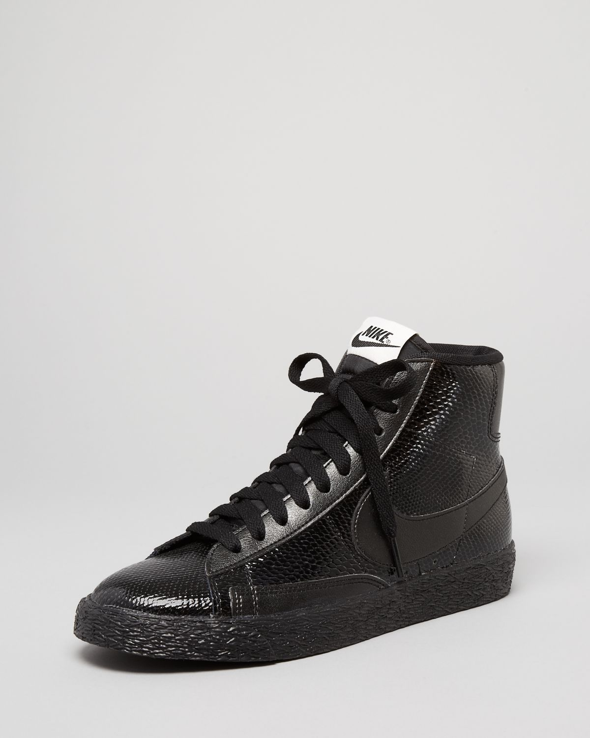 9c641fa0cc34 ... reduced lyst nike lace up sneakers womens blazer snake print mid in  black 397c8 16639