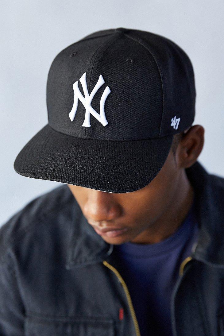 Lyst - 47 Brand Sure Shot Yankees Snapback Hat in Black for Men b5ba72f0769