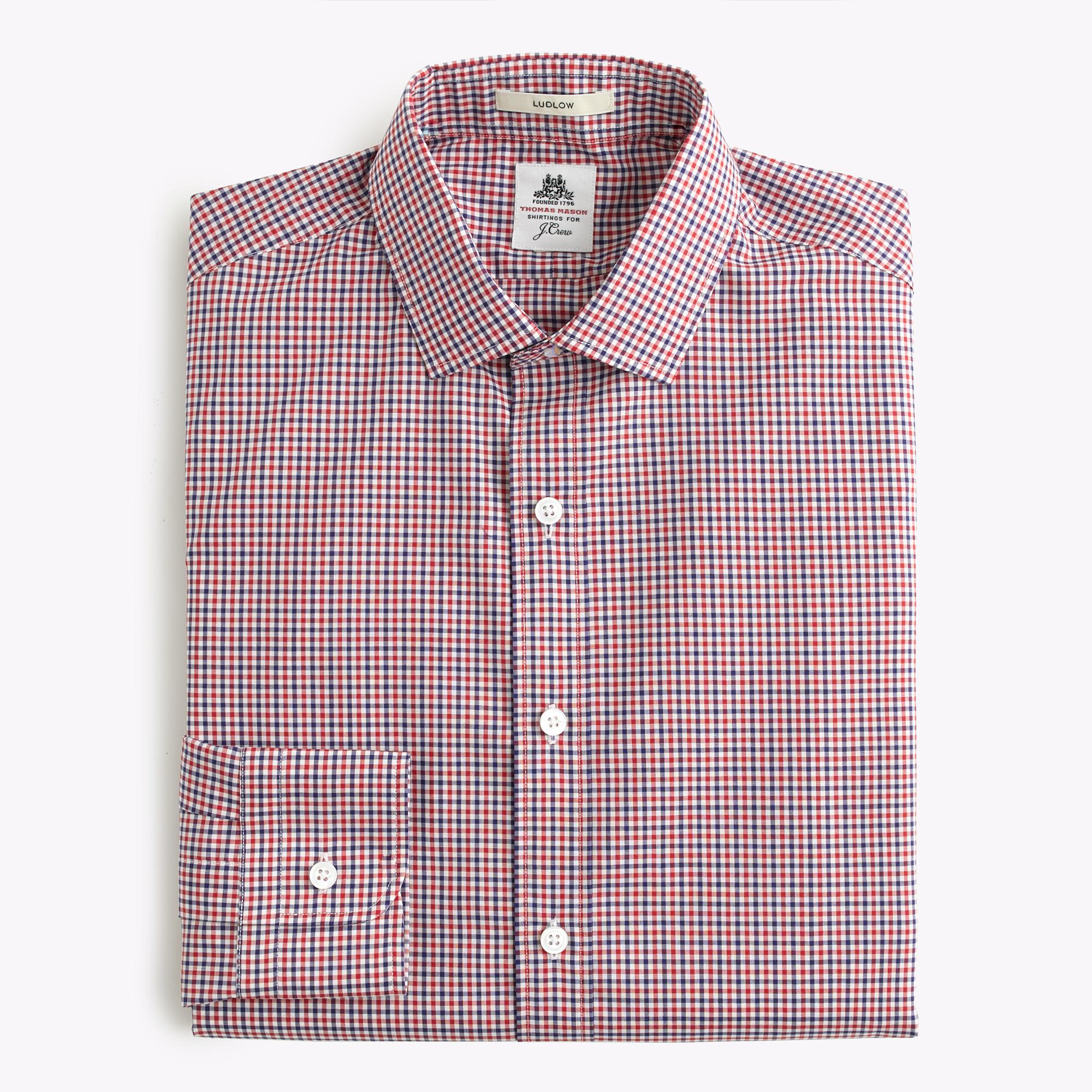 Thomas mason ludlow shirt in gingham for men lyst for Thomas mason dress shirts