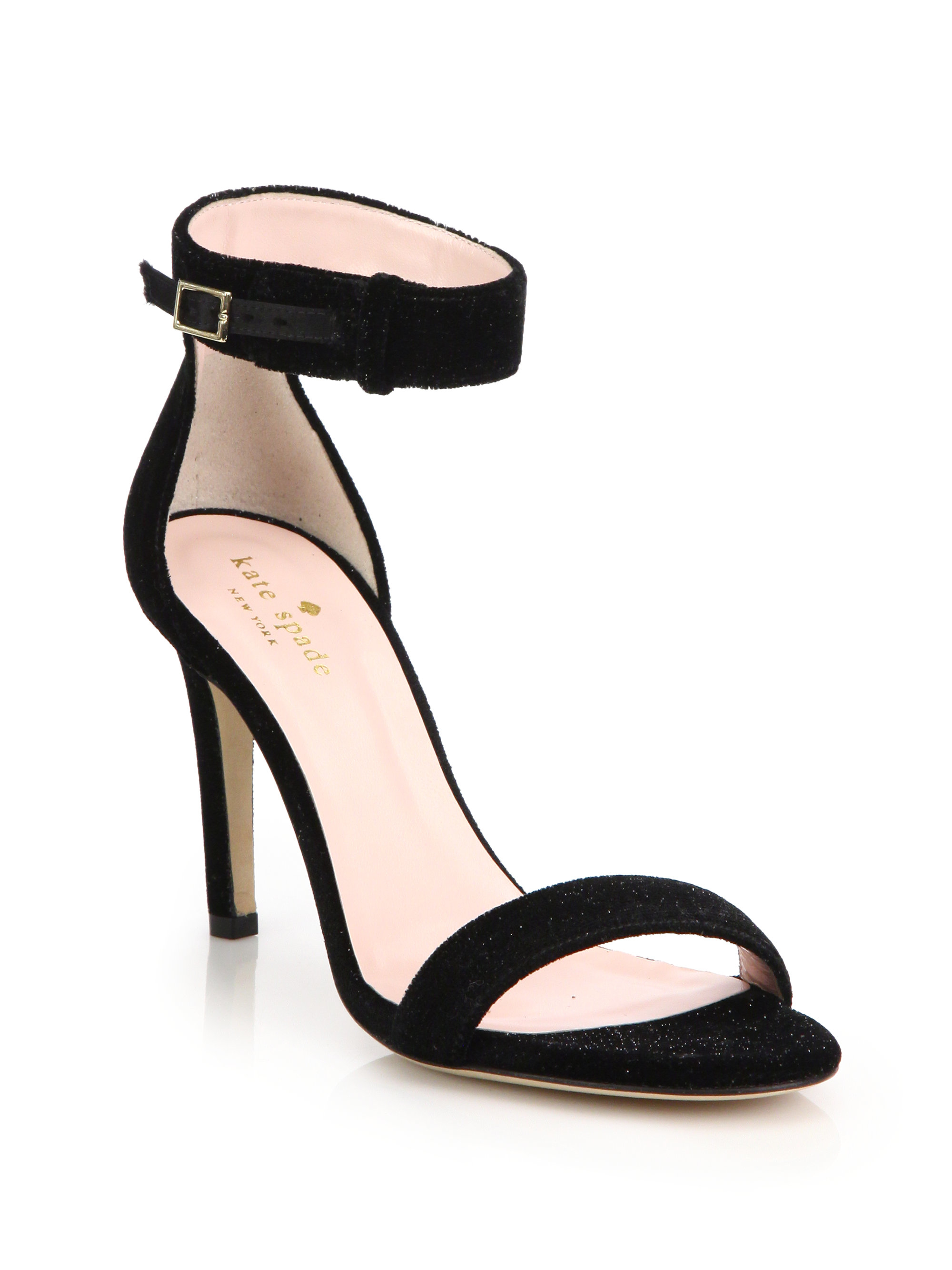 for sale under $60 Kate Spade New York Satin-Trimmed Glitter Sandals cheap sale latest collections ssharfXh