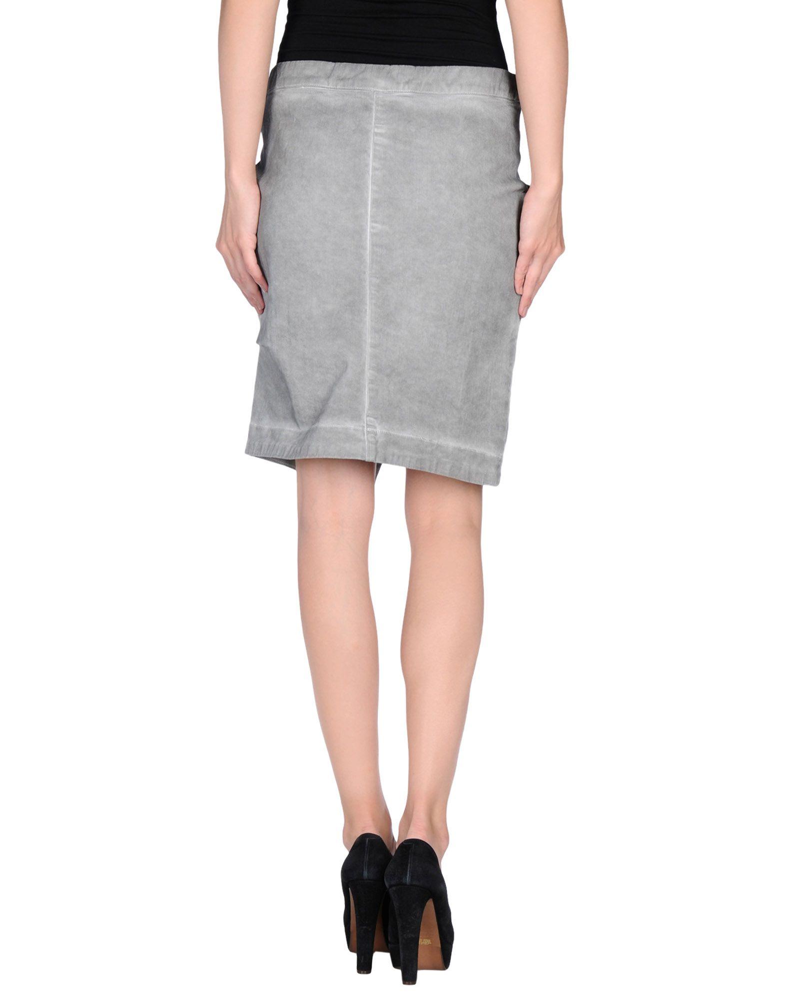 manila grace denim skirt in gray grey lyst