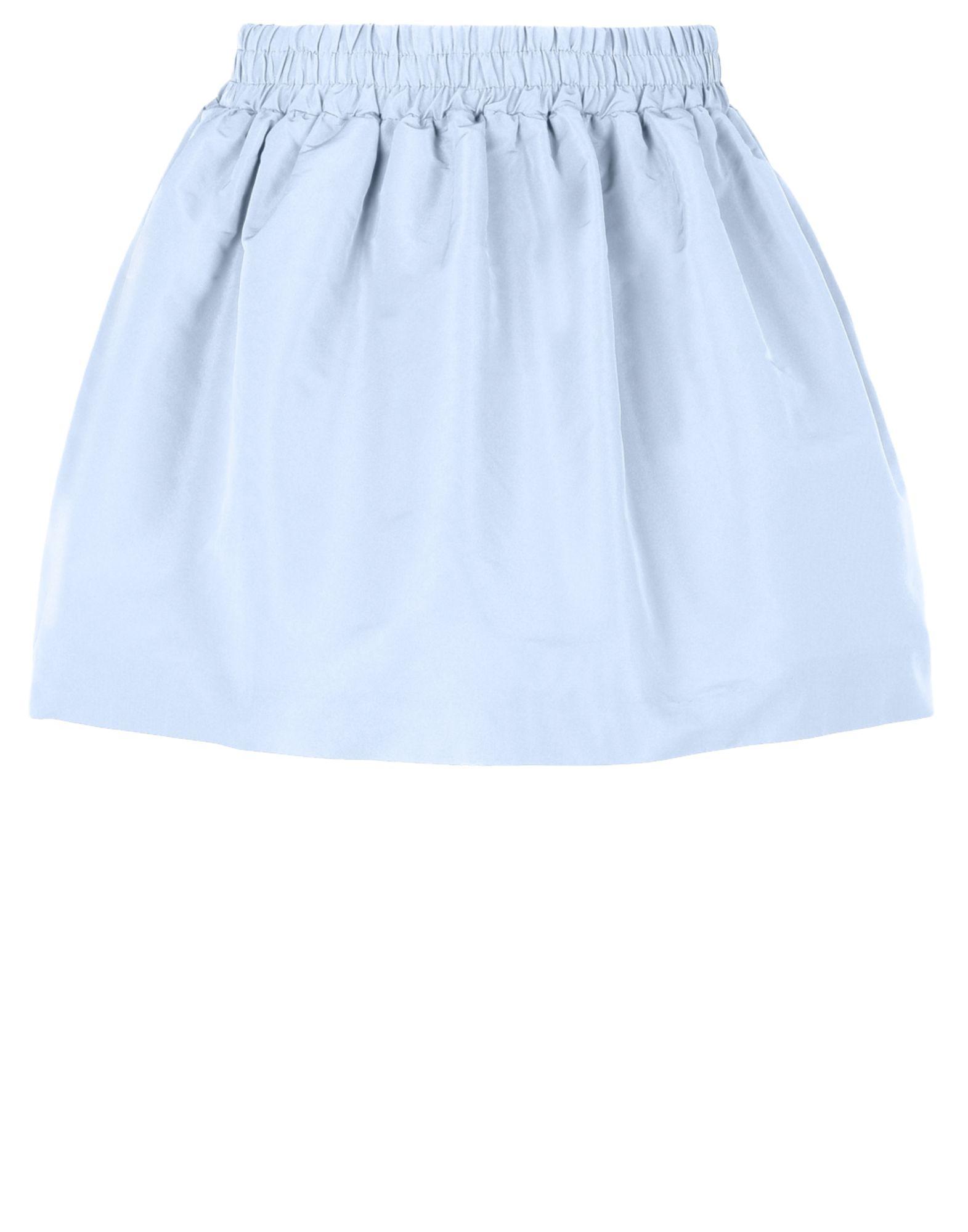 valentino faille mini skirt in blue lyst
