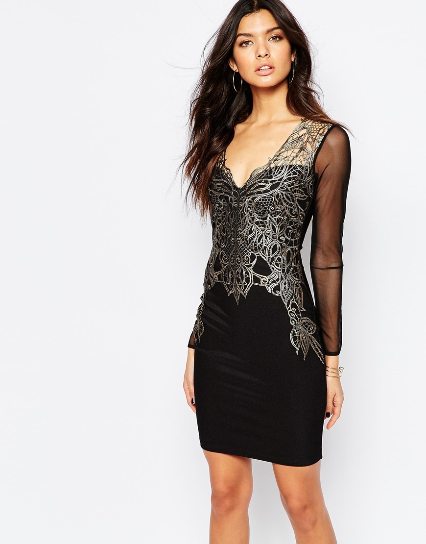 Lyst - Lipsy Michelle Keegan Loves Lace Applique Front -9321