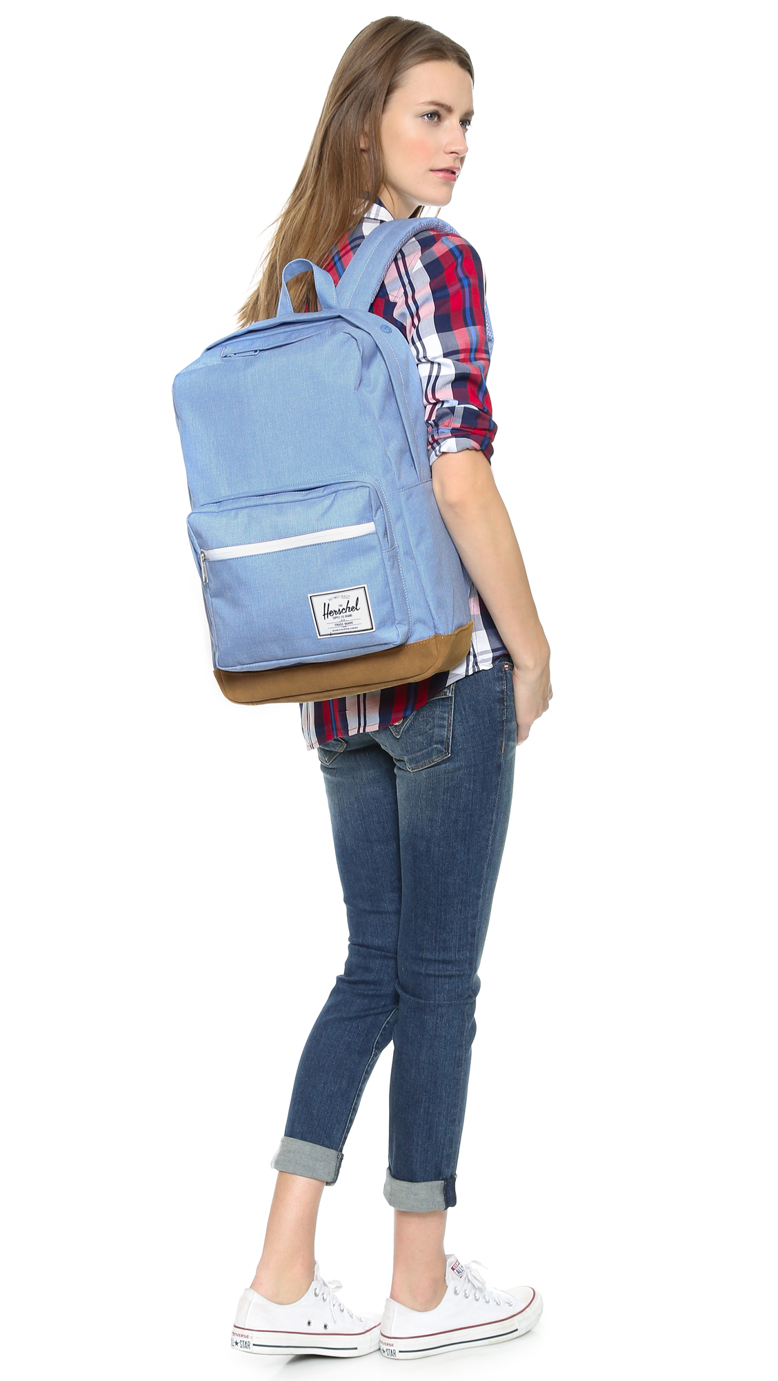 86bb9a29a2c Lyst - Herschel Supply Co. Pop Quiz Backpack - Chambray in Blue