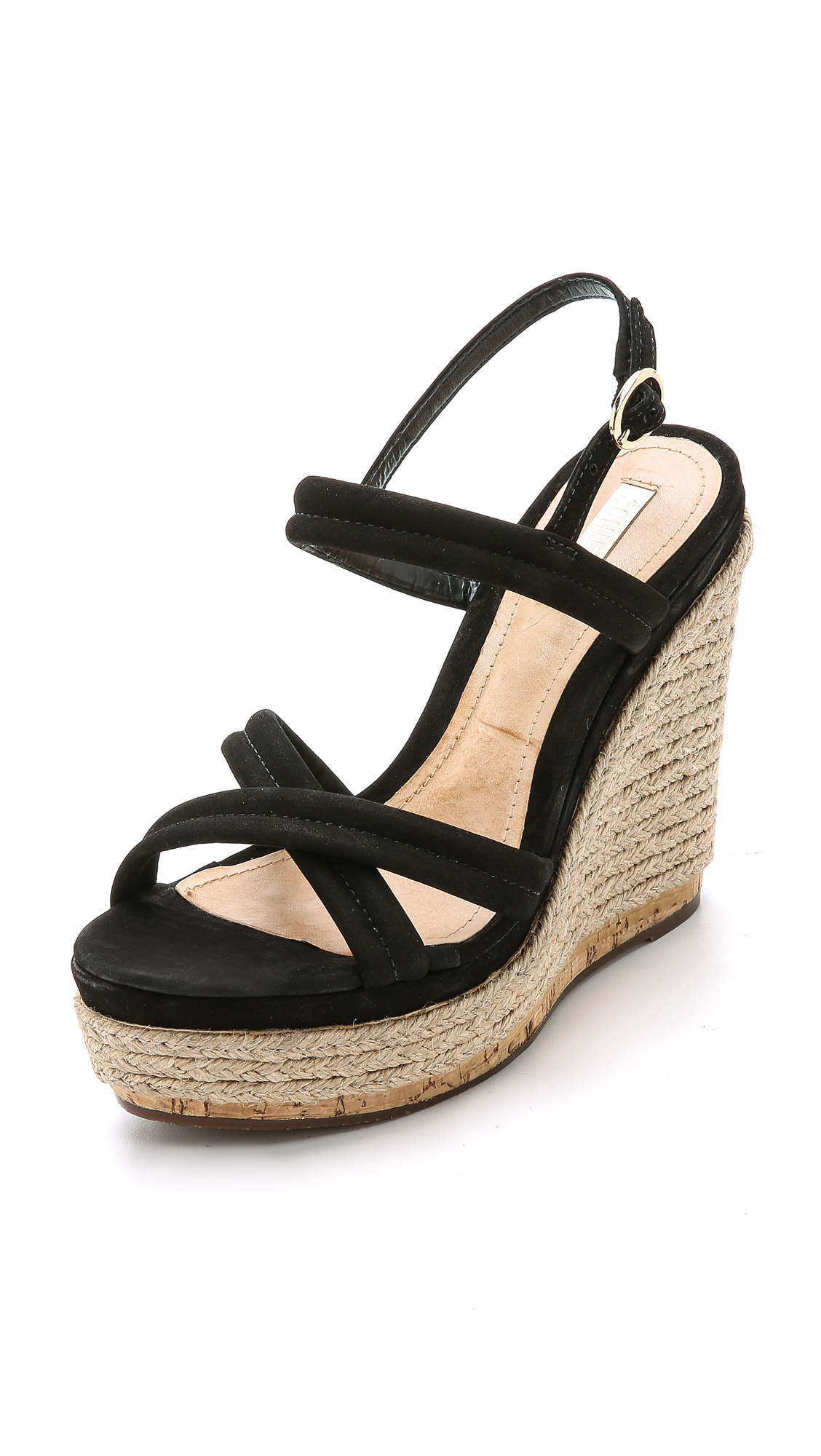 e96ff0daea Schutz Evy Espadrille Wedge Sandals - Black in Black - Lyst
