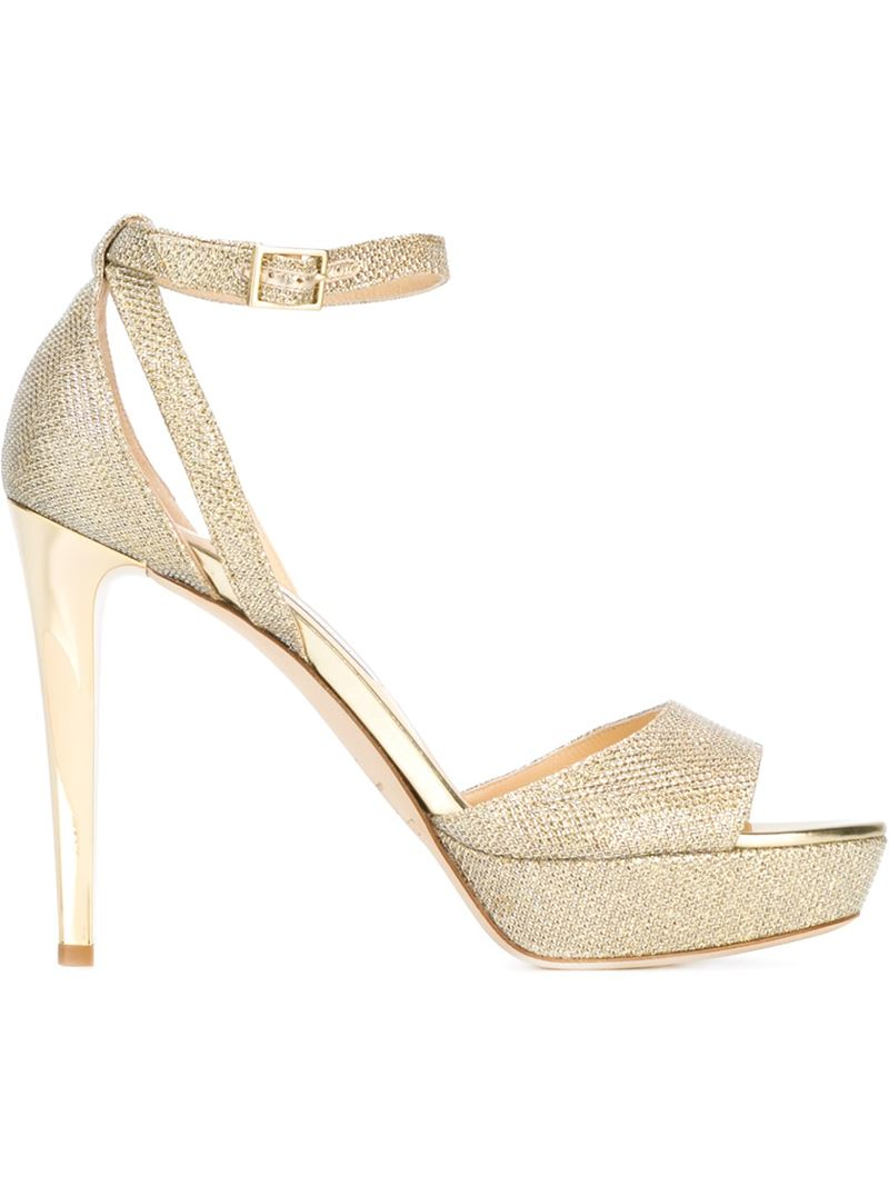 118f197139b Jimmy Choo  kayden  Sandals in Metallic - Lyst