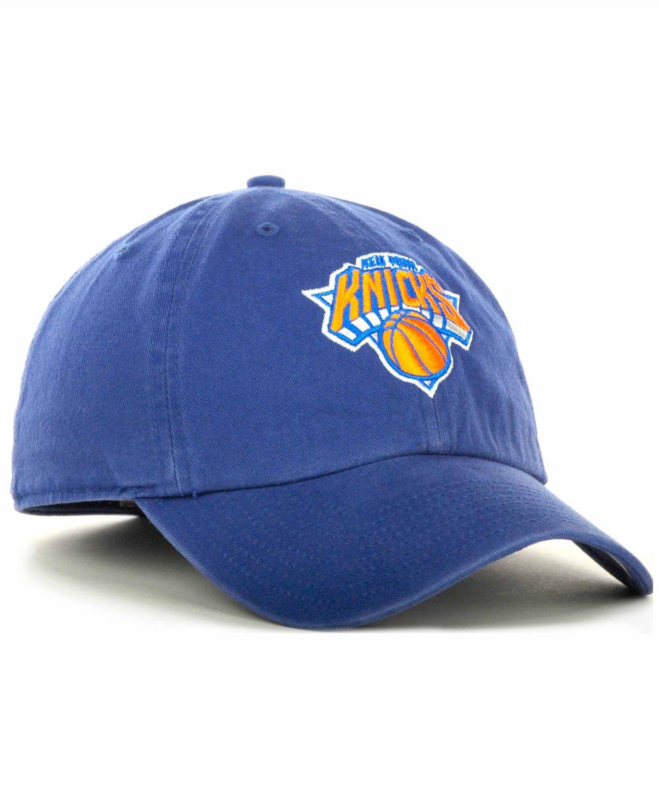 cb6ea28203b3b 47 Brand New York Knicks Hardwood Classics Franchise Hat in Blue for ...