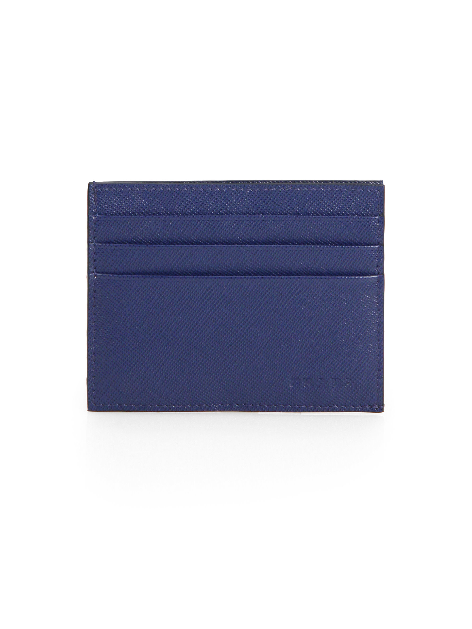 Prada Saffiano Leather Passport Holder Card Case Knock