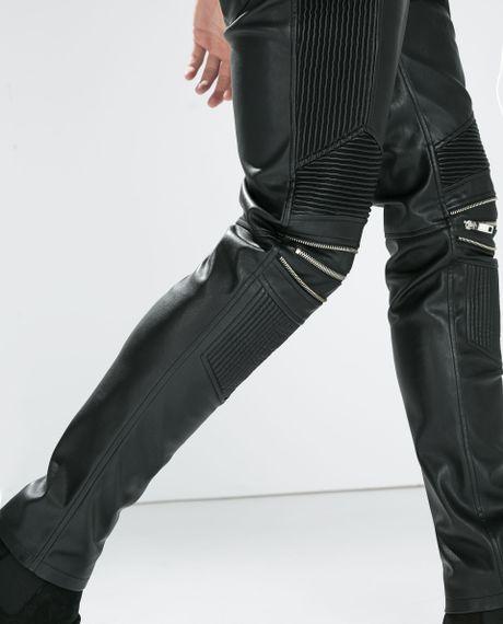 Brilliant Zara Pants  Zara Faux Leather Biker Pants
