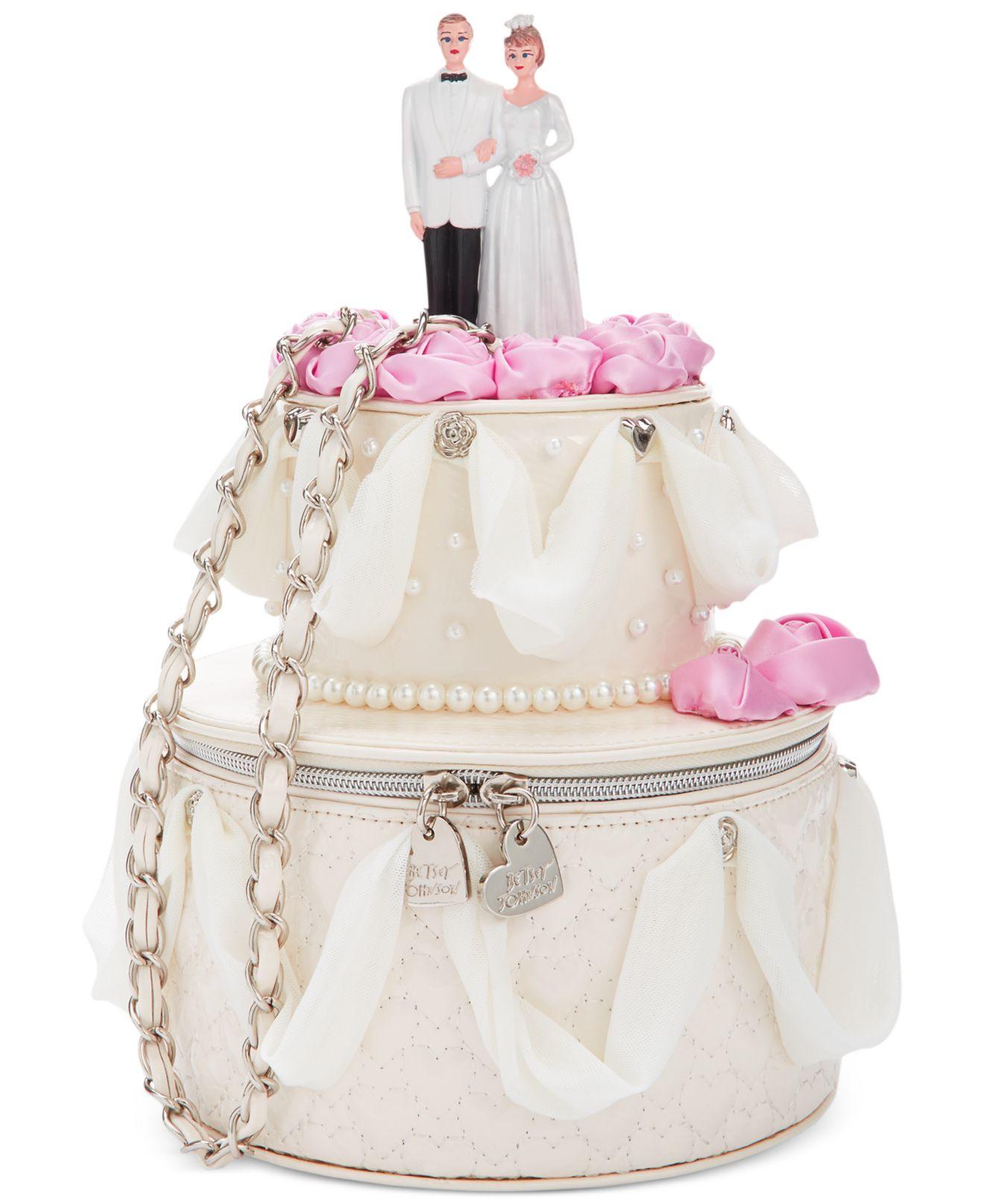 betsey johnson blue by whole cake shoulder bag in natural lyst. Black Bedroom Furniture Sets. Home Design Ideas