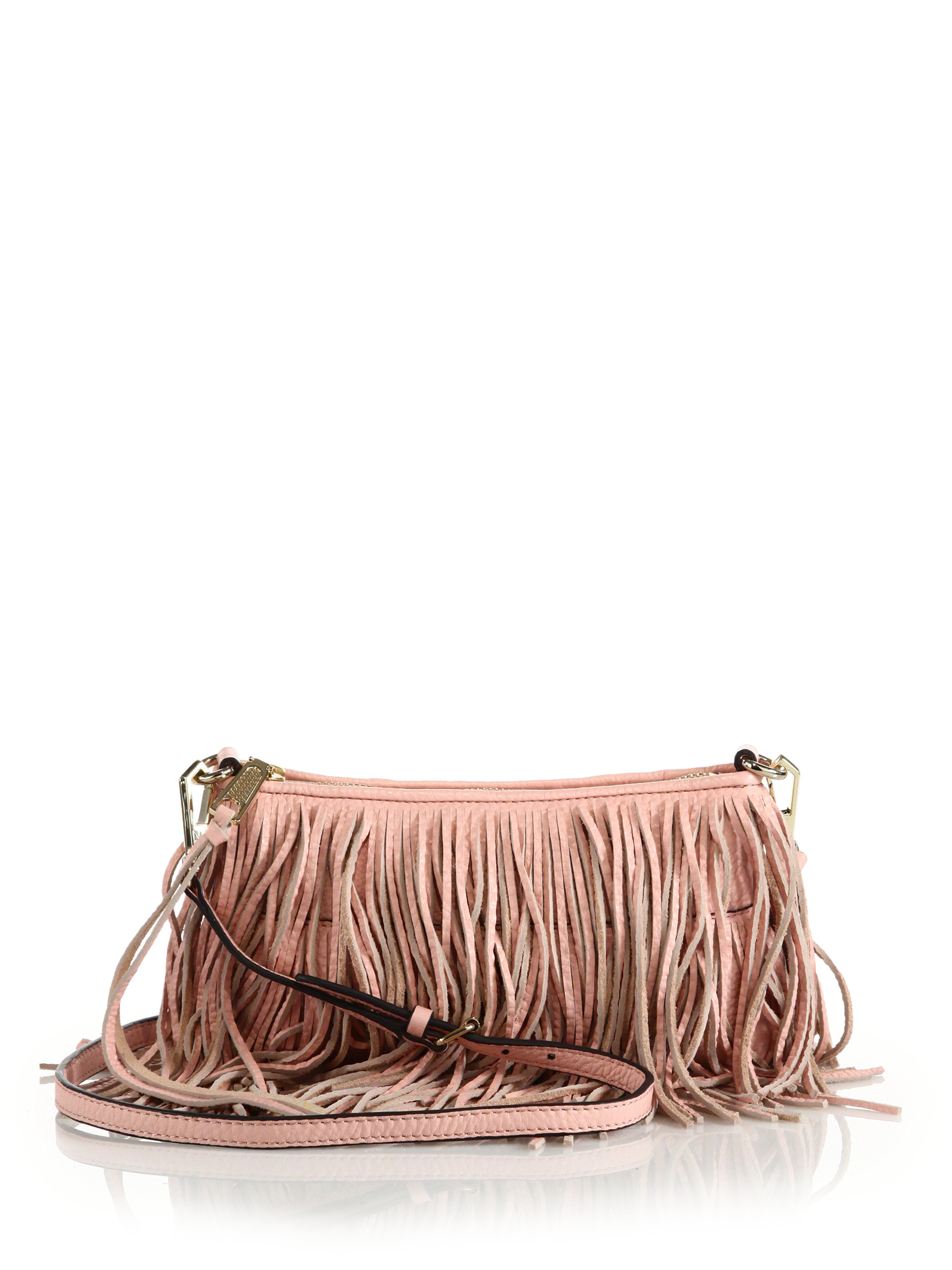 fringed crossbody bag - Pink & Purple Rebecca Minkoff