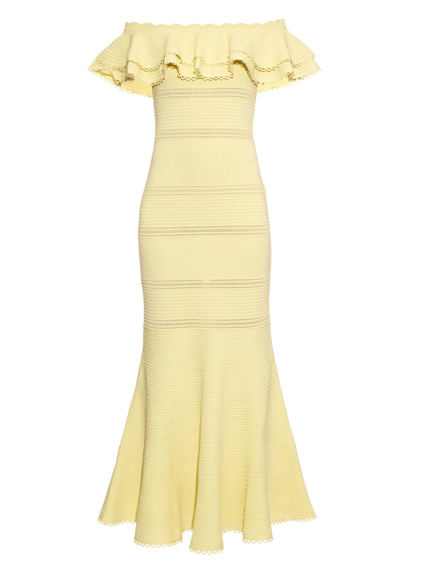 Alexander McQueen Yellow Dress