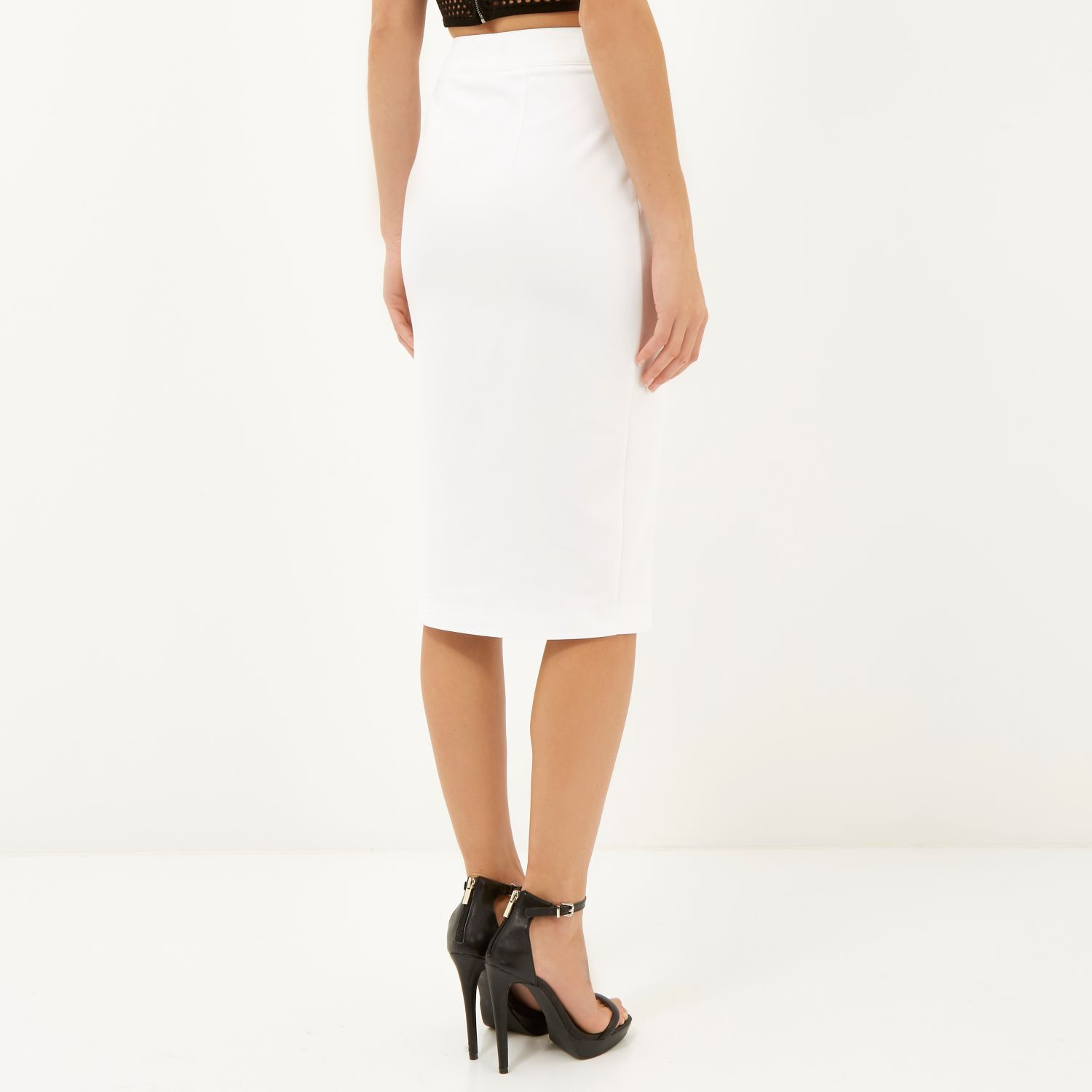 Buy Cheap Footlocker River Island Womens button front belted pencil skirt Shop Cheap Price Good Selling Cheap Online Discount 2018 New icE7uo3O