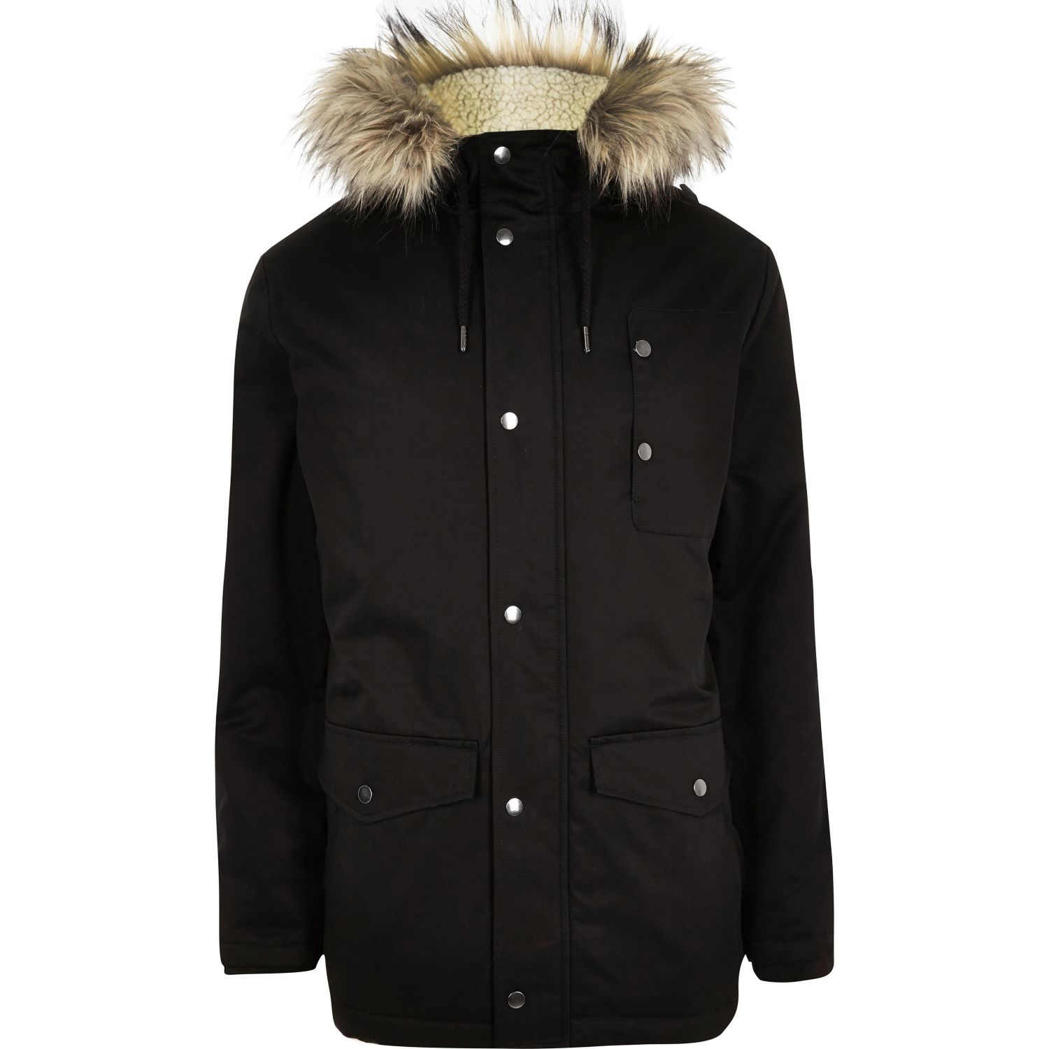 River Island Long Hooded Men S Parka