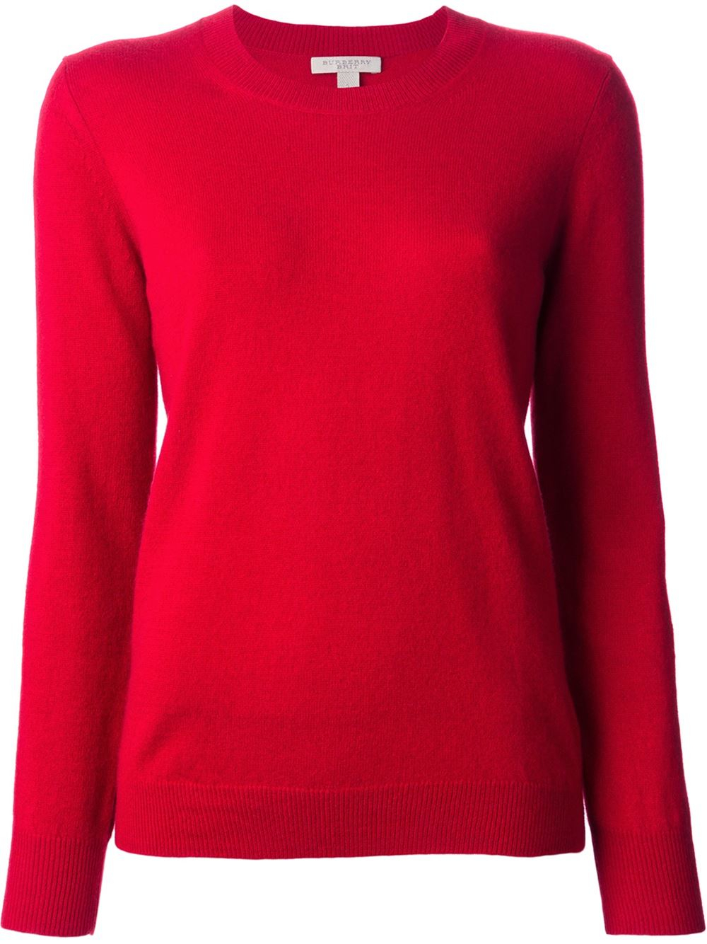 Burberry brit Elbow Patch Sweater in Red | Lyst