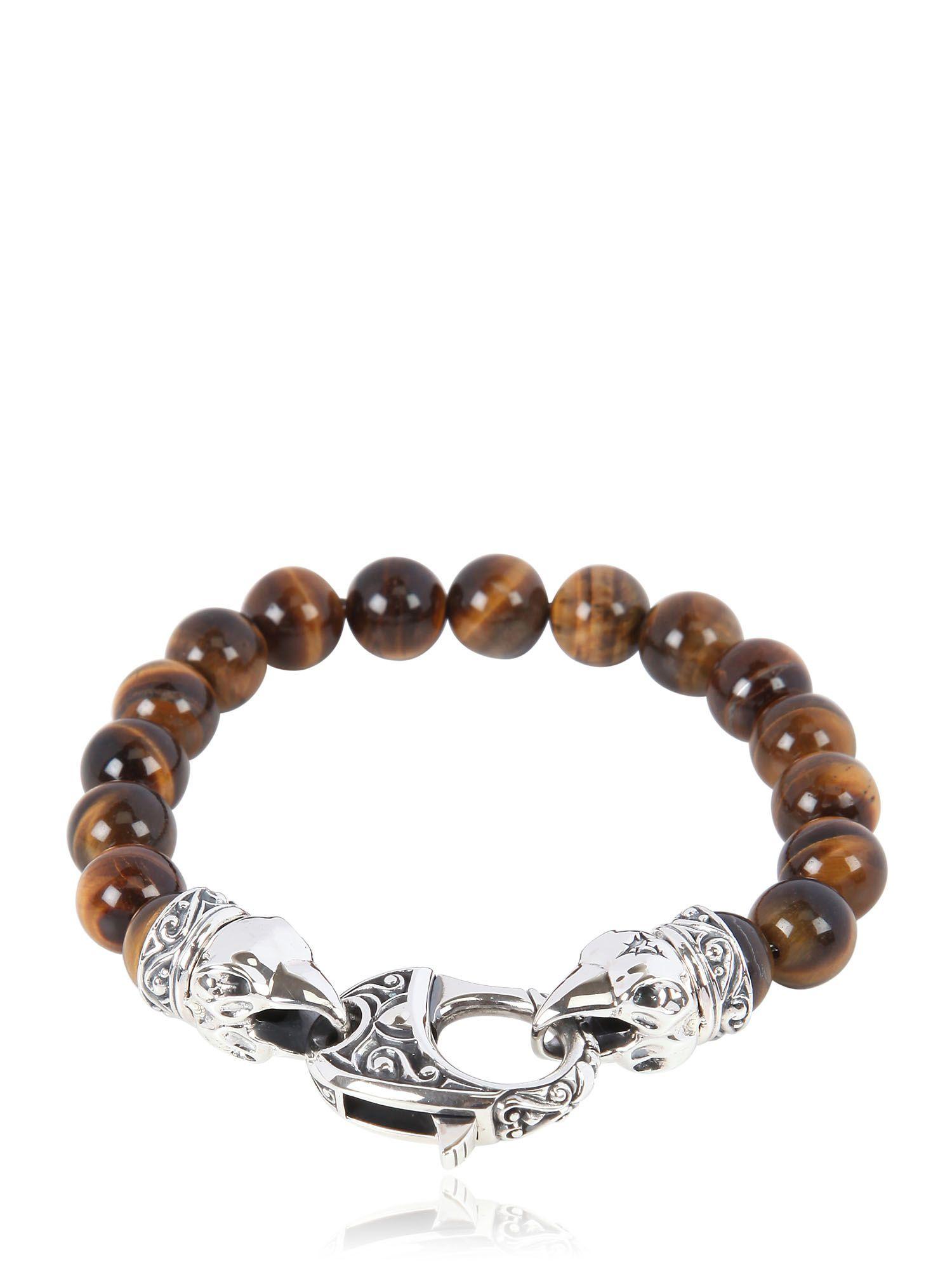Stephen Webster Raven Head Tiger Eye Bracelet In Brown