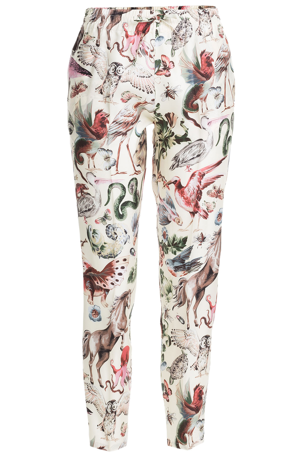 Silk printed trousers Valentino