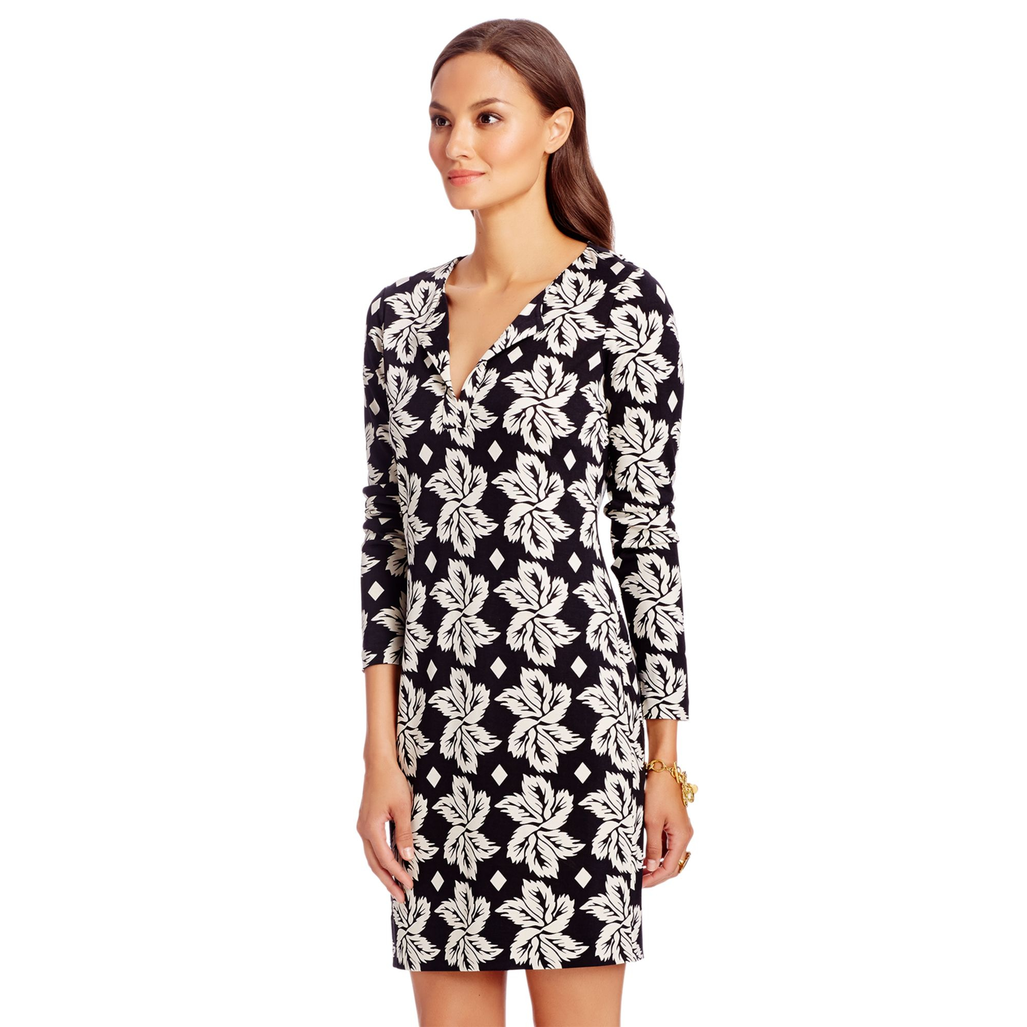 Cheap Buy Cheap Discount Sale long-sleeved patterned smock dress - Green Diane Von Fürstenberg With Credit Card Sale Online S2NmZ79JE