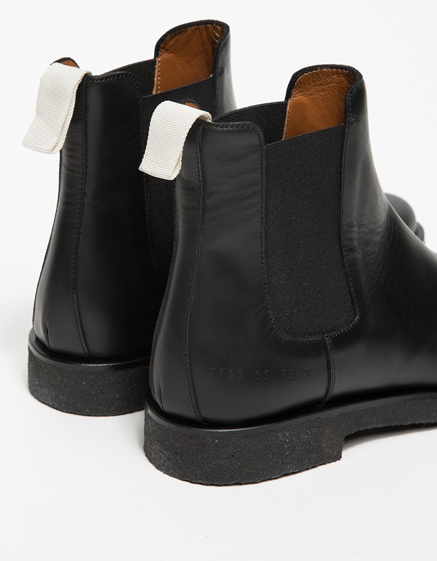 Lyst Common Projects Leather Chelsea Boots In Black