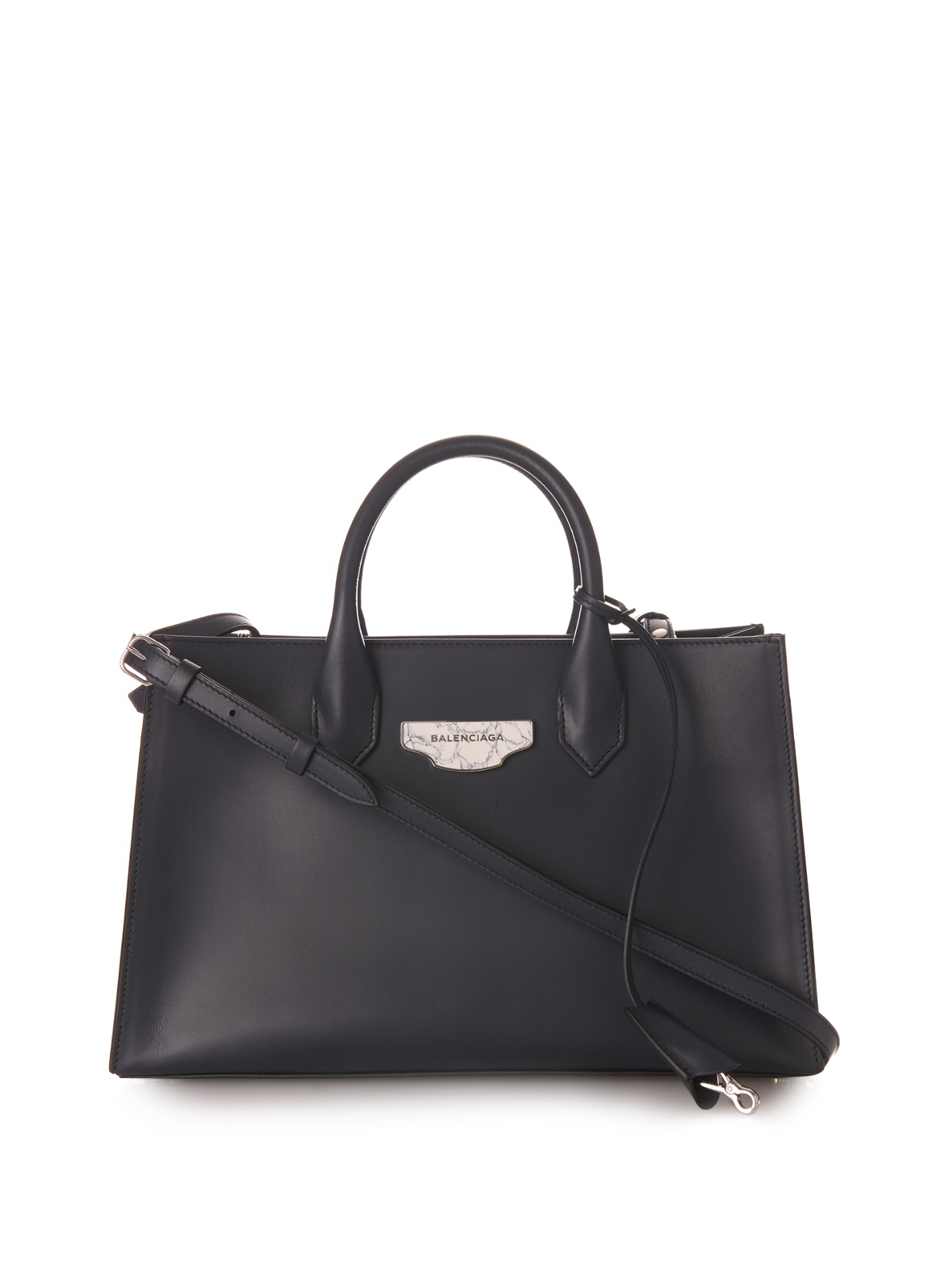 Lyst - Balenciaga Nude Work Xs Leather Tote in Blue