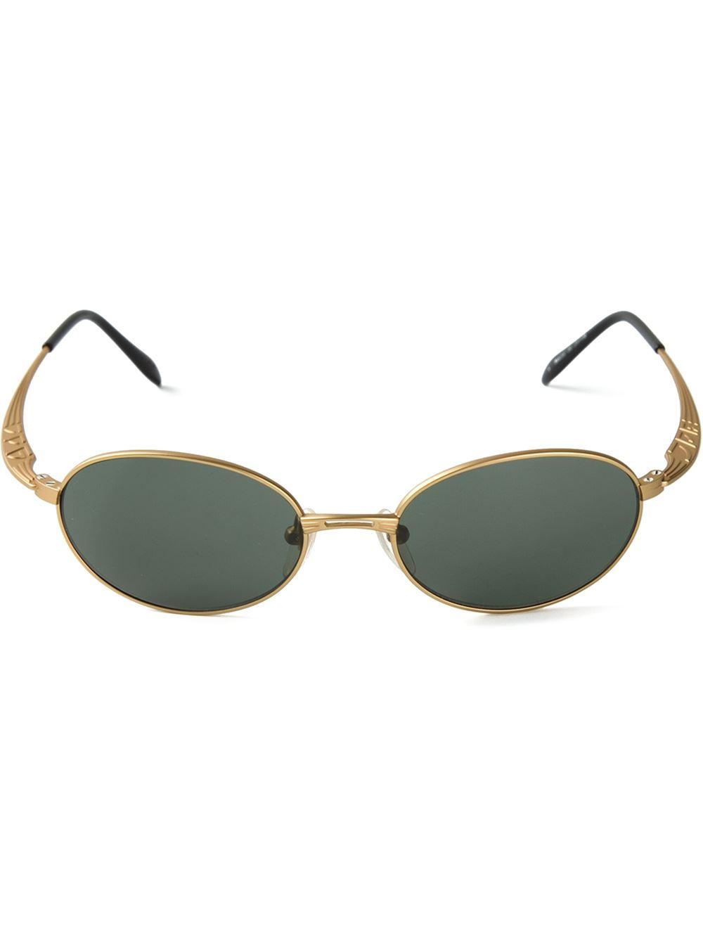 41df1cec79a Lyst - Jean Paul Gaultier Oval Frame Sunglasses in Green