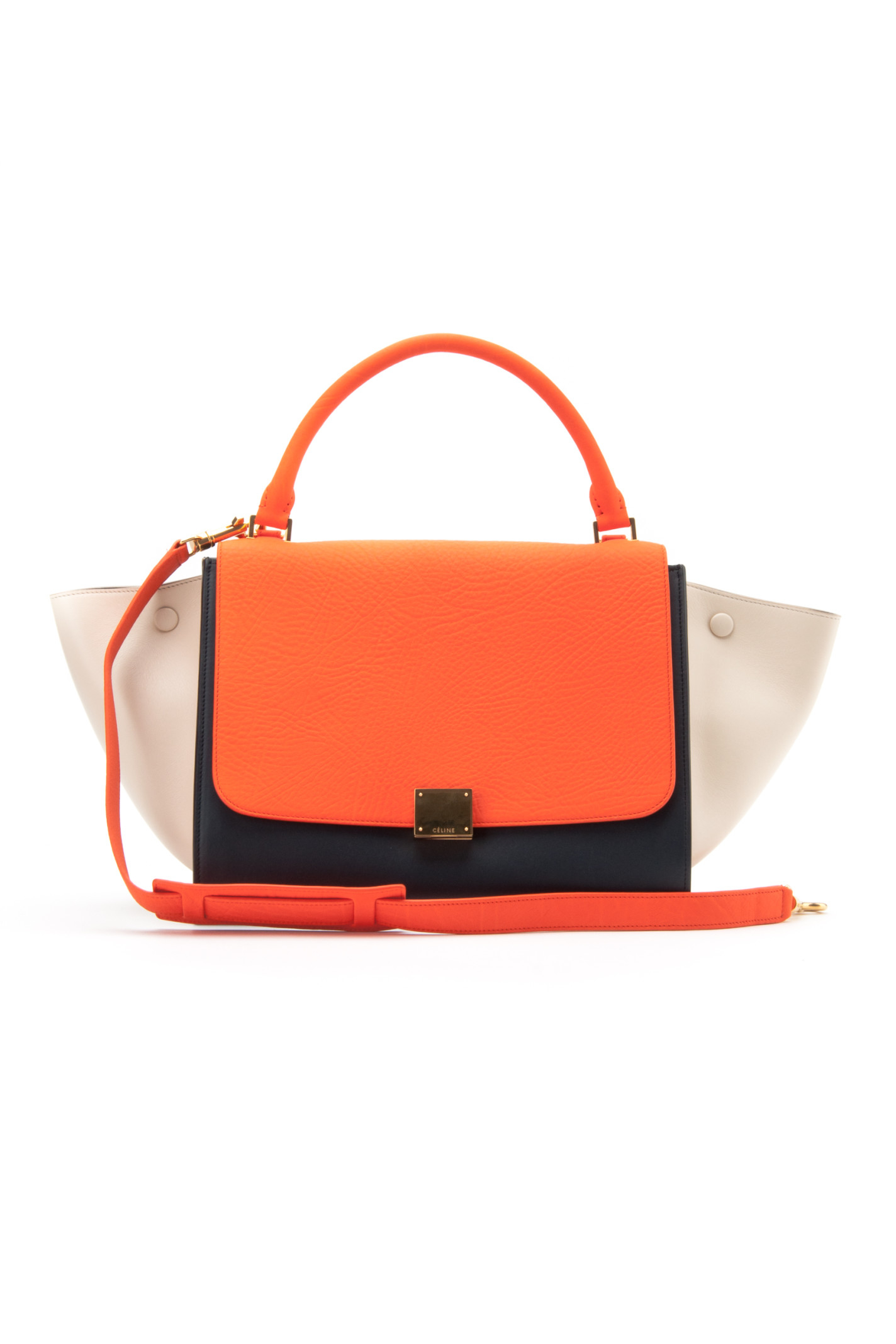 Celine Bags Online Ping Orange Leather Handbag Tze Luggage