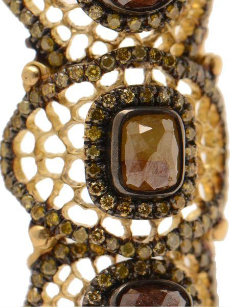 Loree Rodkin Baby Spiderweb Bondage Ring With Diamonds In