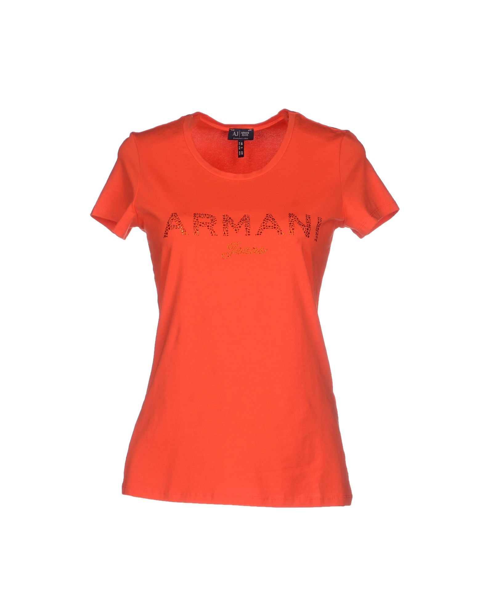 armani jeans t shirt in orange lyst. Black Bedroom Furniture Sets. Home Design Ideas