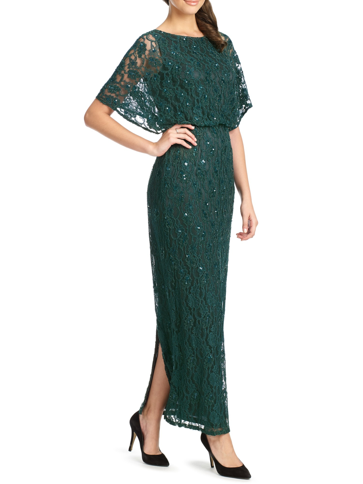Ariella green lace dress