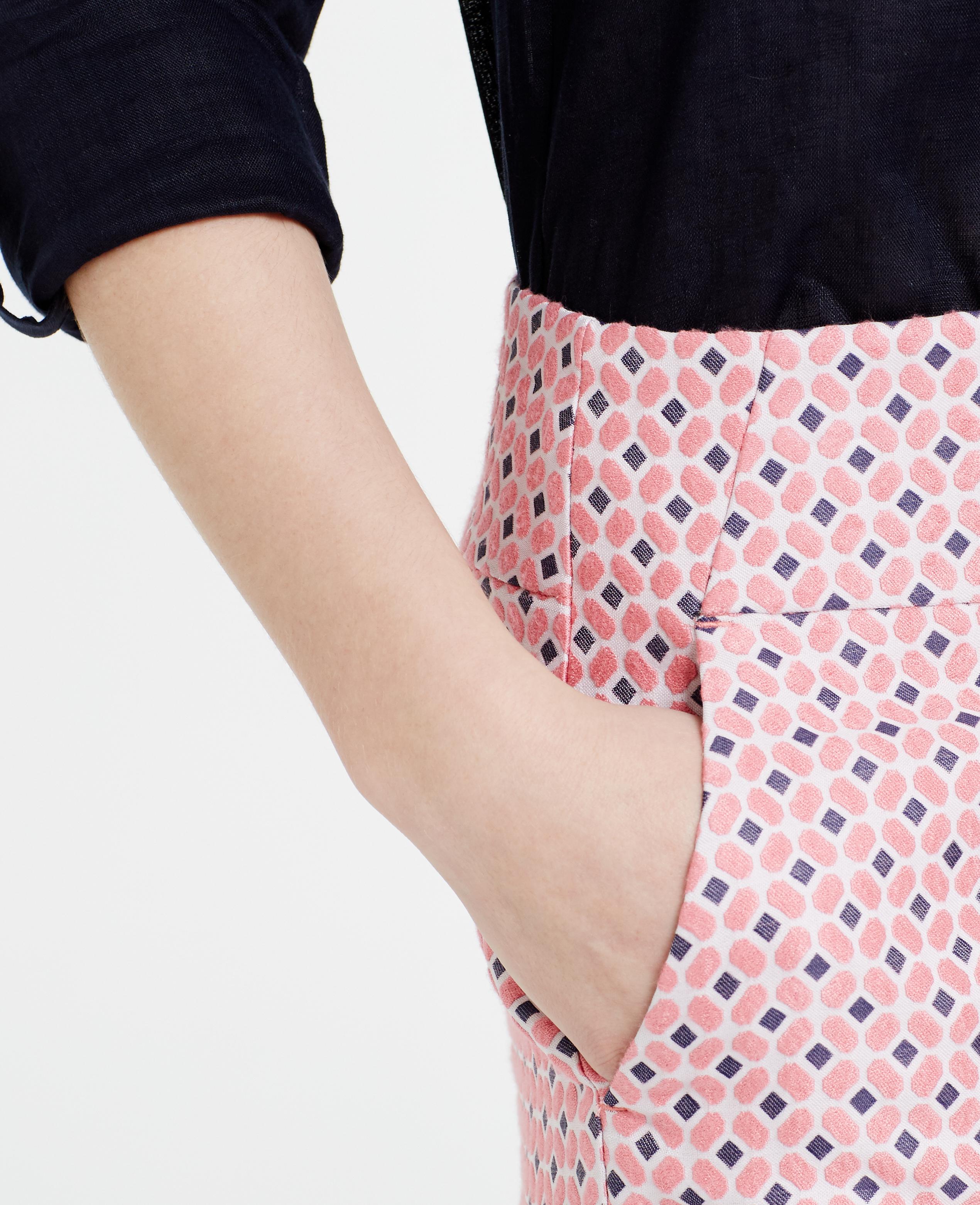 1bb9d20d49bb27 Ann Taylor Petite Diamond Jacquard Mini Skirt in Pink - Lyst
