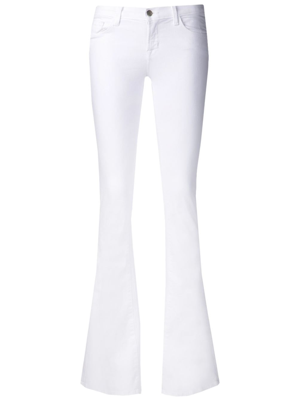 Lyst J Brand Martini Flare Jeans In White