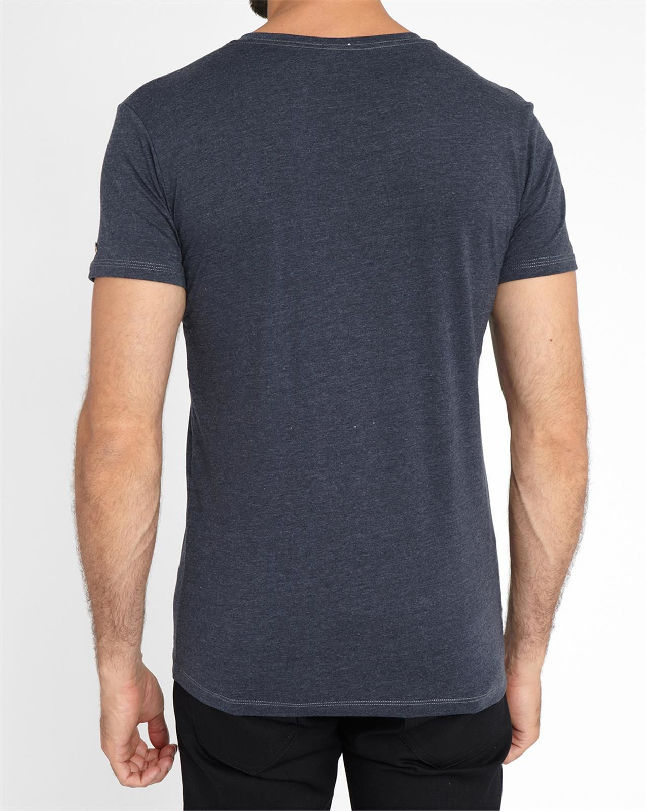 Diesel charcoal michael v neck t shirt in gray for men for Mens diesel v neck t shirts