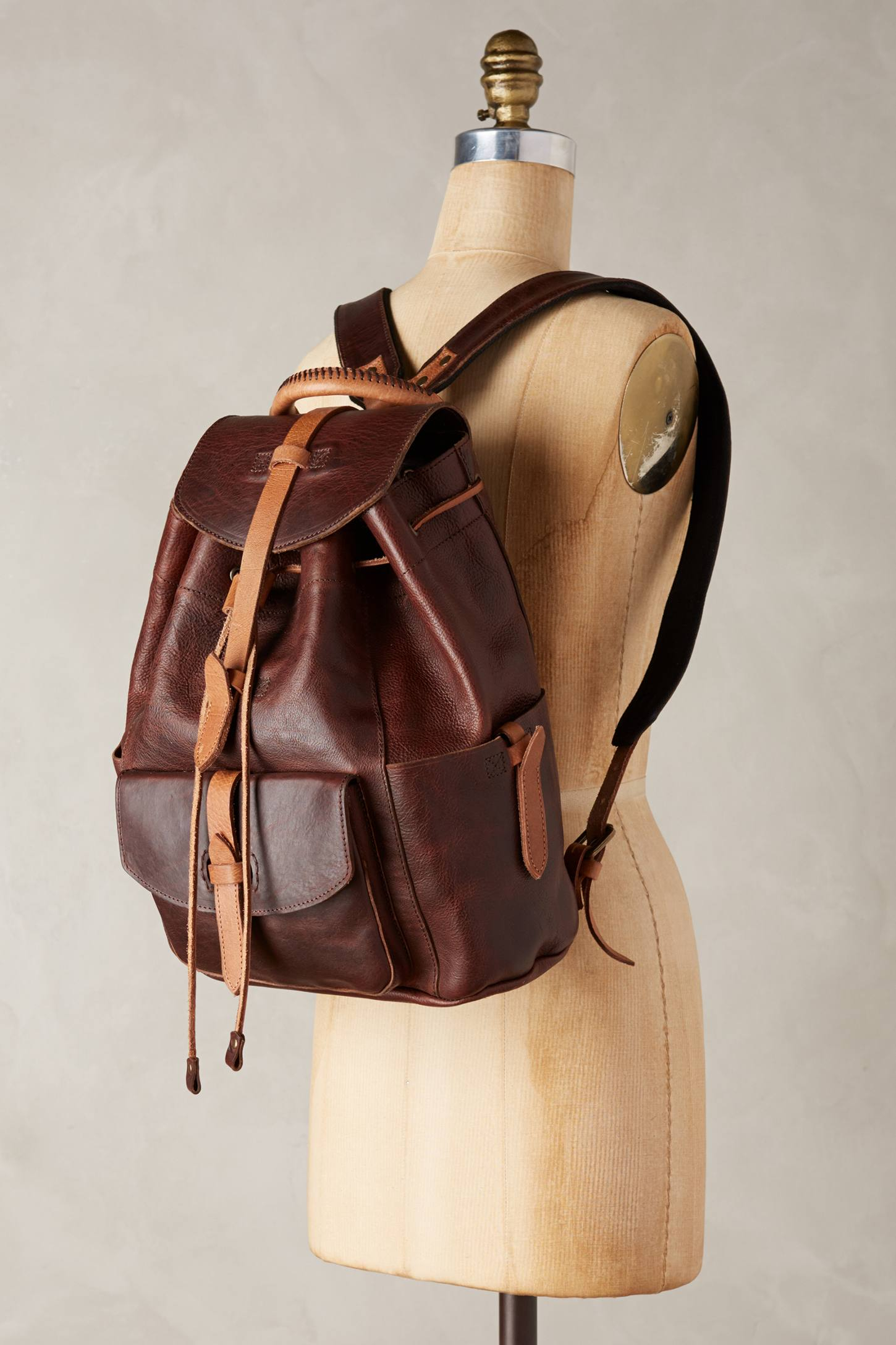 Will leather goods Rainier Leather Backpack in Brown for Men | Lyst